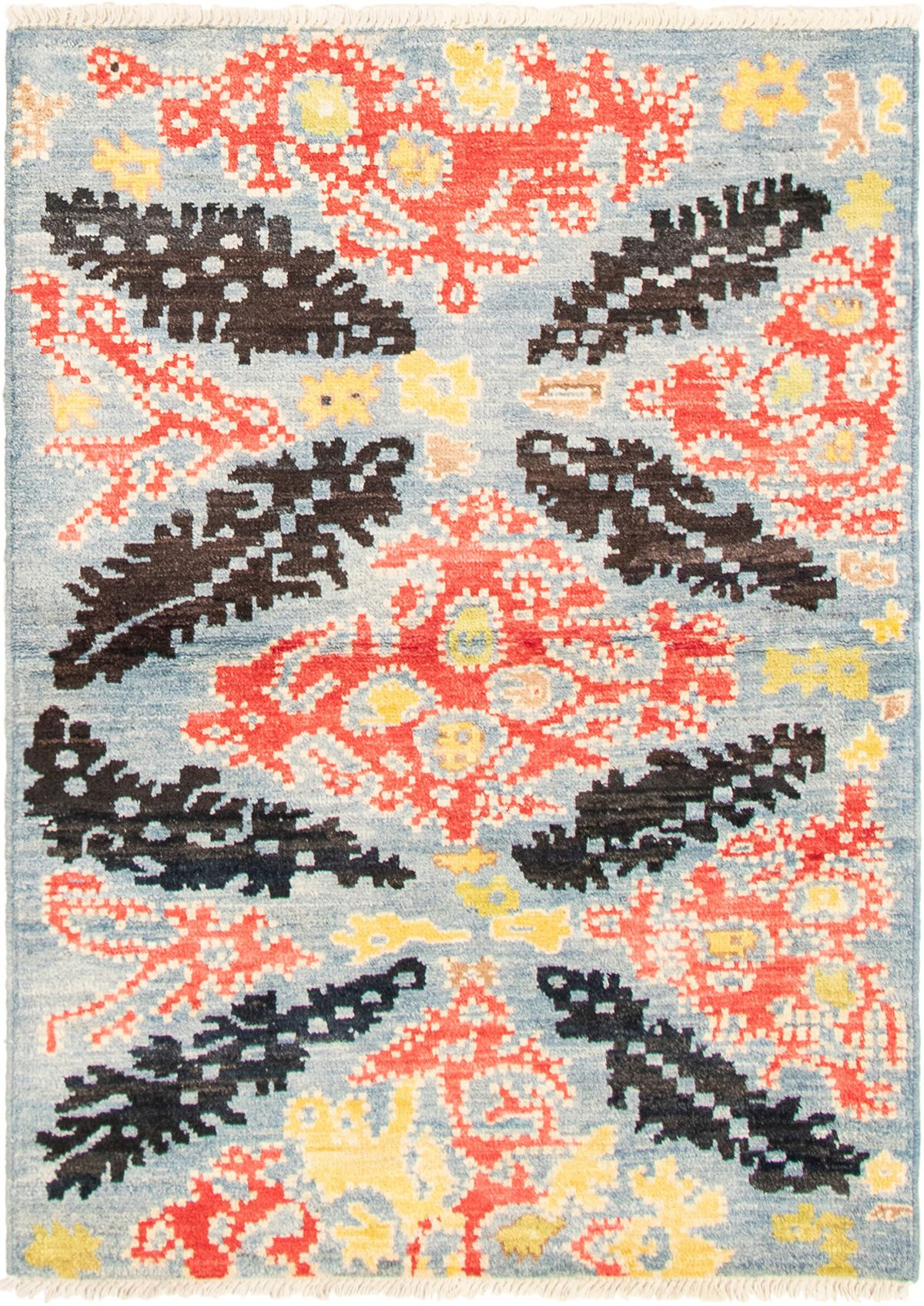"""Hand-knotted Shalimar Light Blue  Wool Rug 4'3"""" x 6'0"""" Size: 4'3"""" x 6'0"""""""