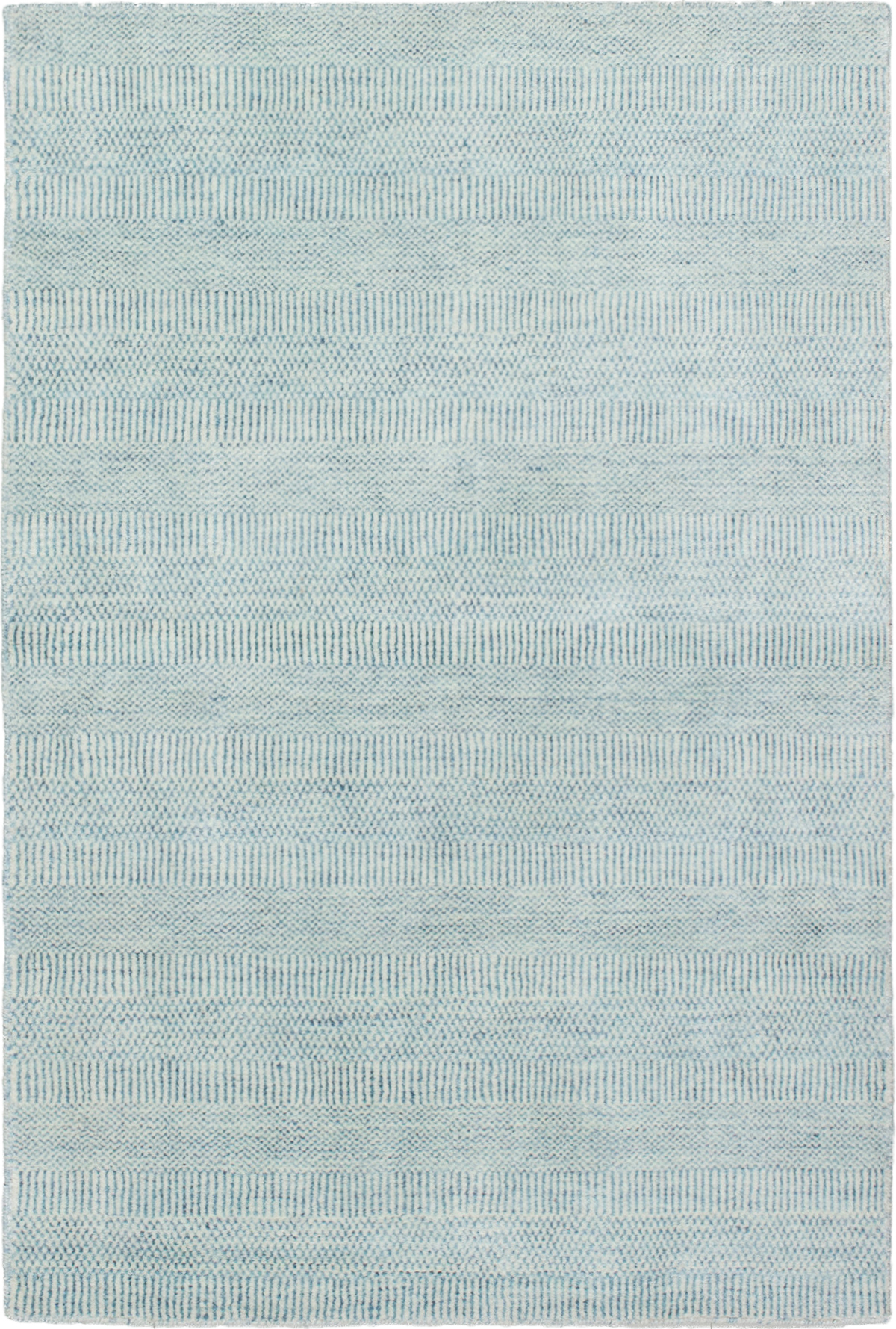 """Hand-knotted Pearl Light Blue   Rug 4'1"""" x 6'1"""" Size: 4'1"""" x 6'1"""""""