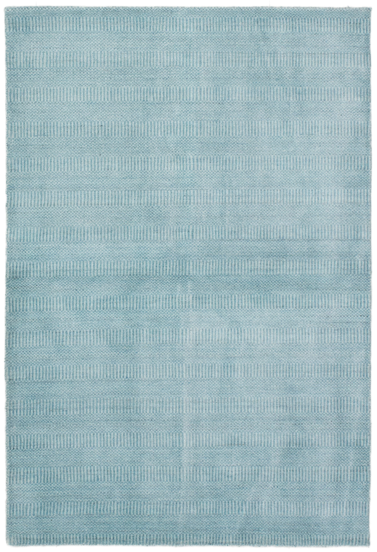"""Hand-knotted Pearl Sky Blue  Rug 4'0"""" x 6'0"""" Size: 4'0"""" x 6'0"""""""