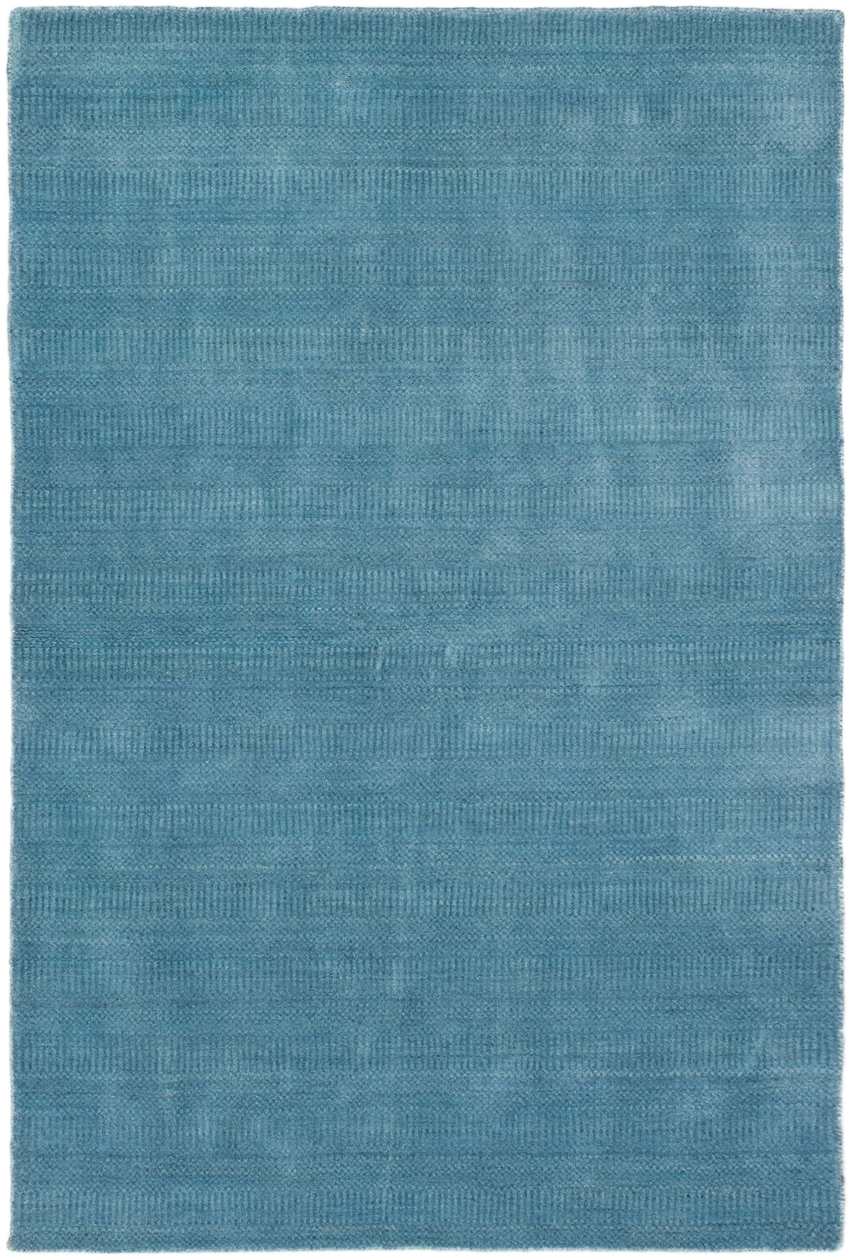 """Hand-knotted Pearl Denim Blue  Rug 4'0"""" x 6'0"""" Size: 4'0"""" x 6'0"""""""