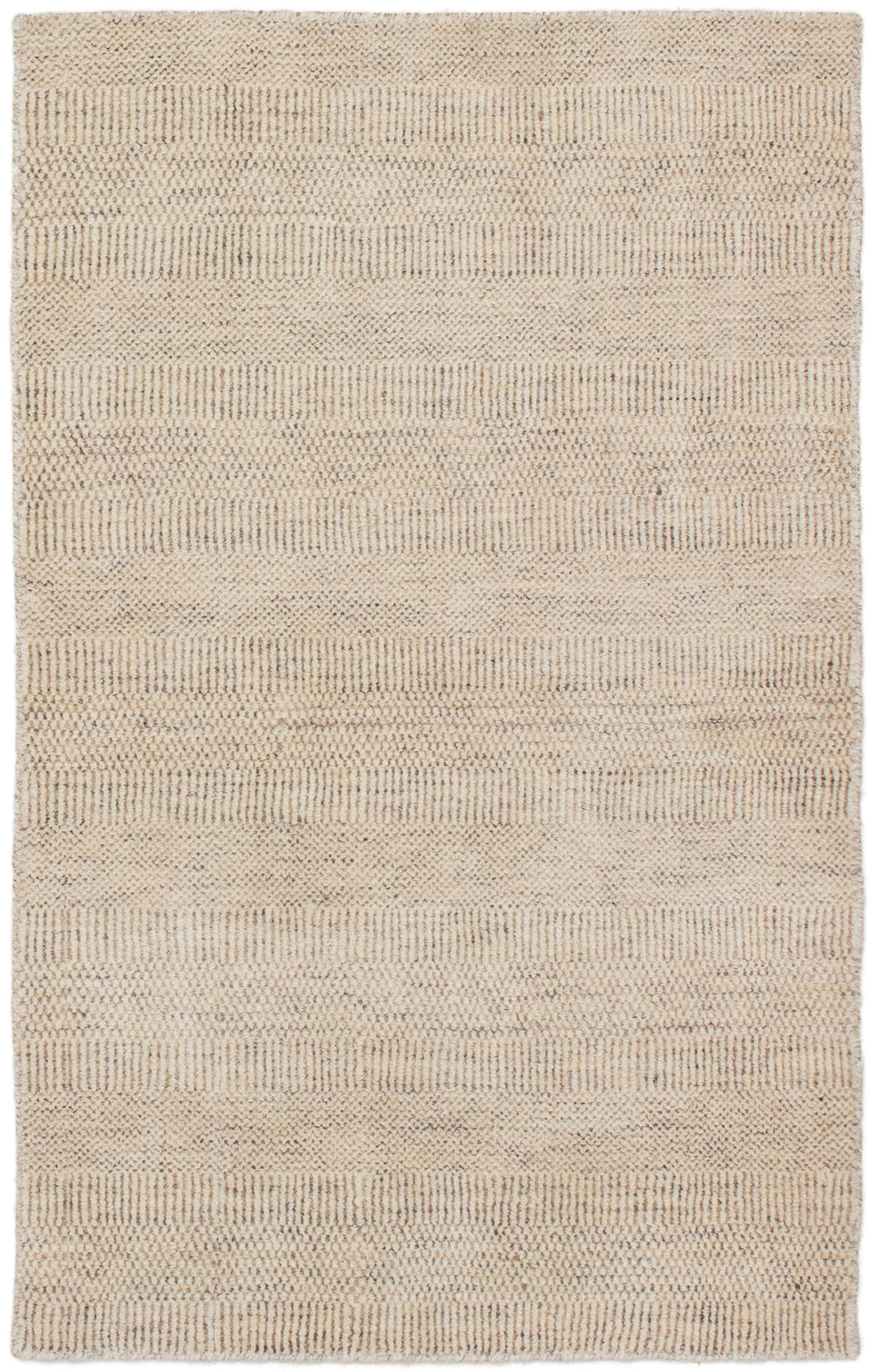 "Hand-knotted Pearl Beige  Rug 3'0"" x 5'0"" Size: 3'0"" x 5'0"""