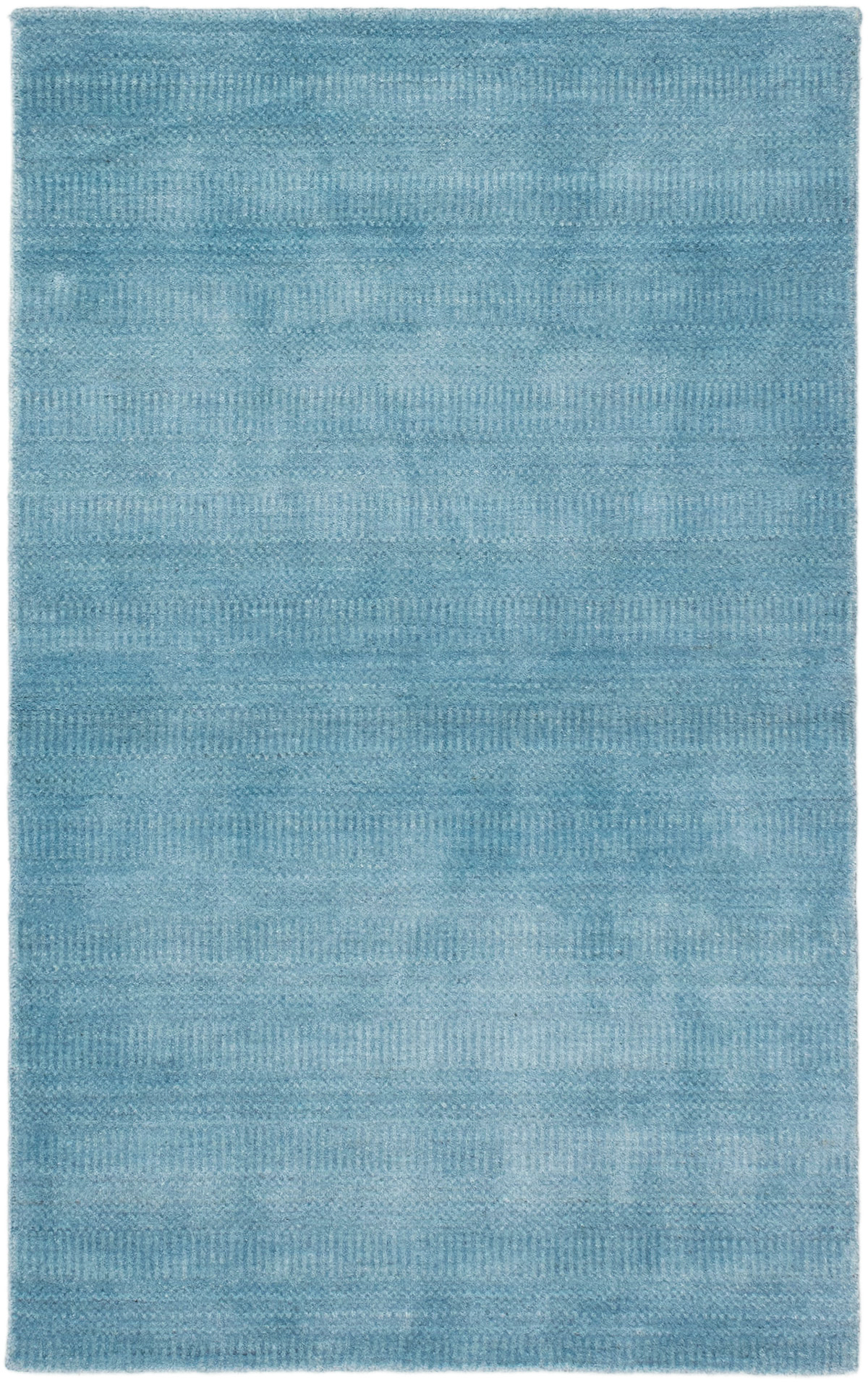 """Hand-knotted Pearl Denim Blue  Rug 3'0"""" x 5'0""""  Size: 3'0"""" x 5'0"""""""