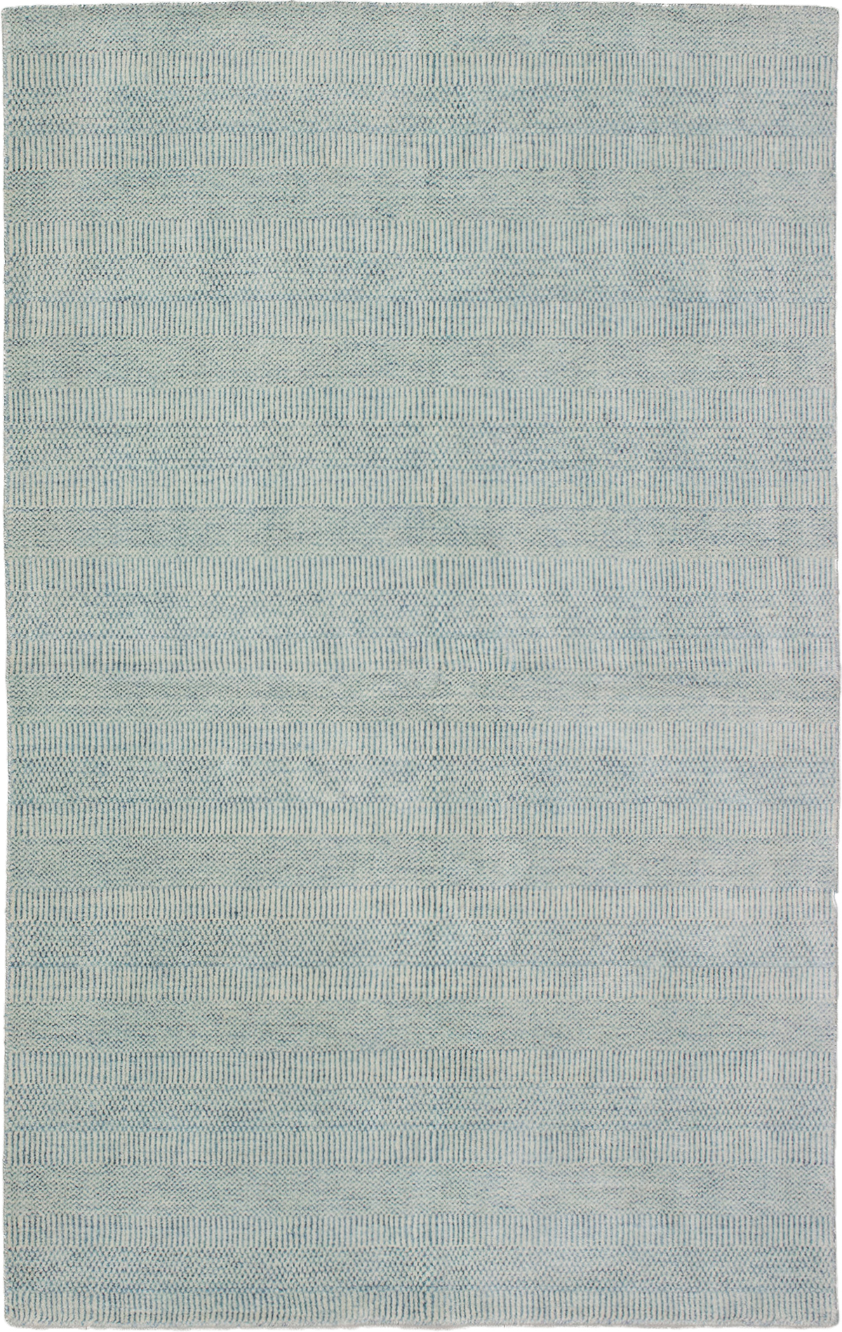 """Hand-knotted Pearl Light Blue   Rug 5'0"""" x 8'0"""" Size: 5'0"""" x 8'0"""""""