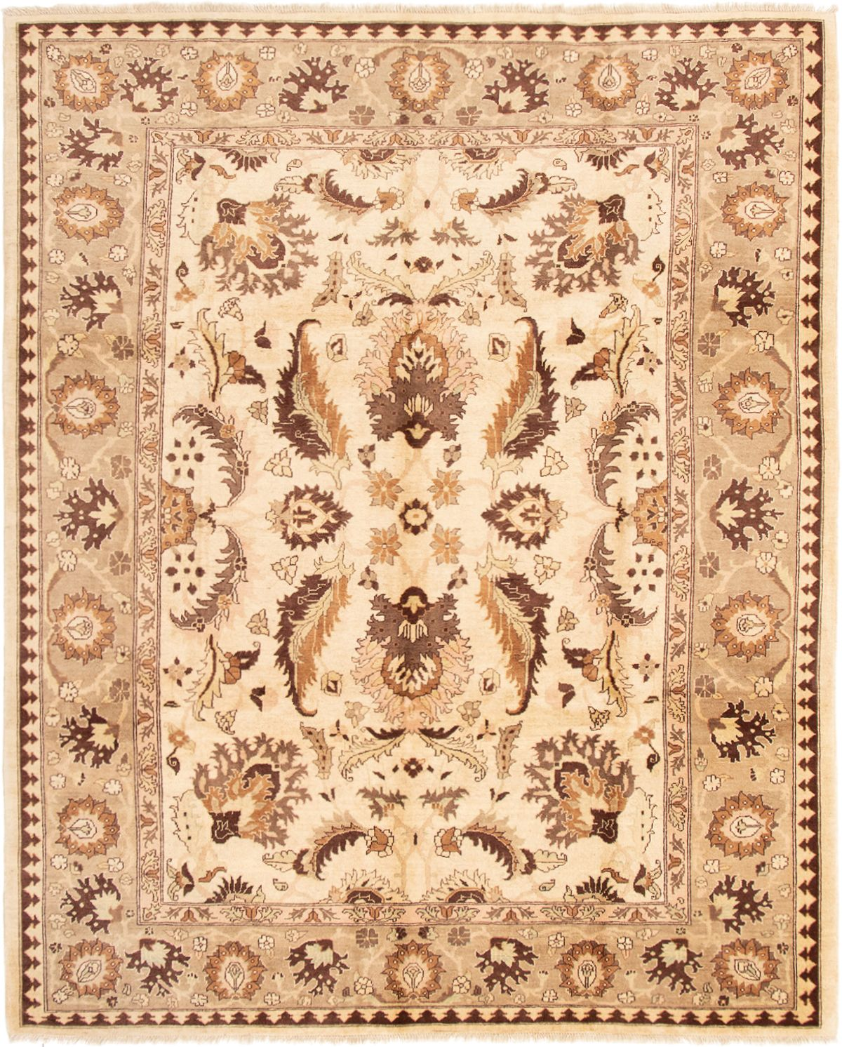 """Hand-knotted Chobi Finest Cream Wool Rug 8'2"""" x 10'0"""" Size: 8'2"""" x 10'0"""""""