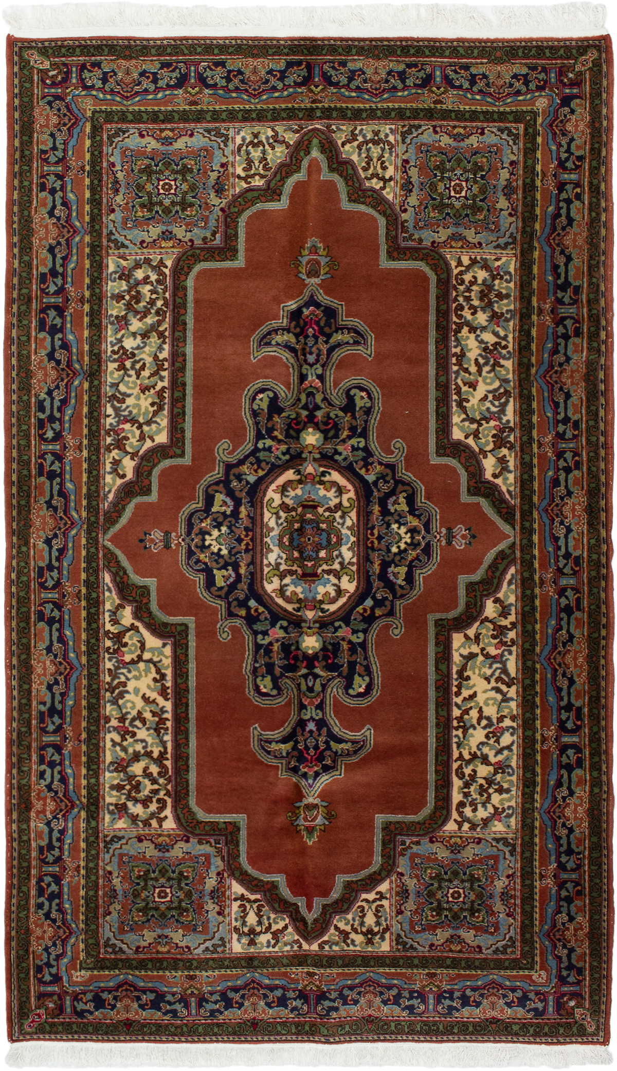 "Hand-knotted Hereke Dark Copper Wool Rug 5'5"" x 8'9"" Size: 5'5"" x 8'9"""