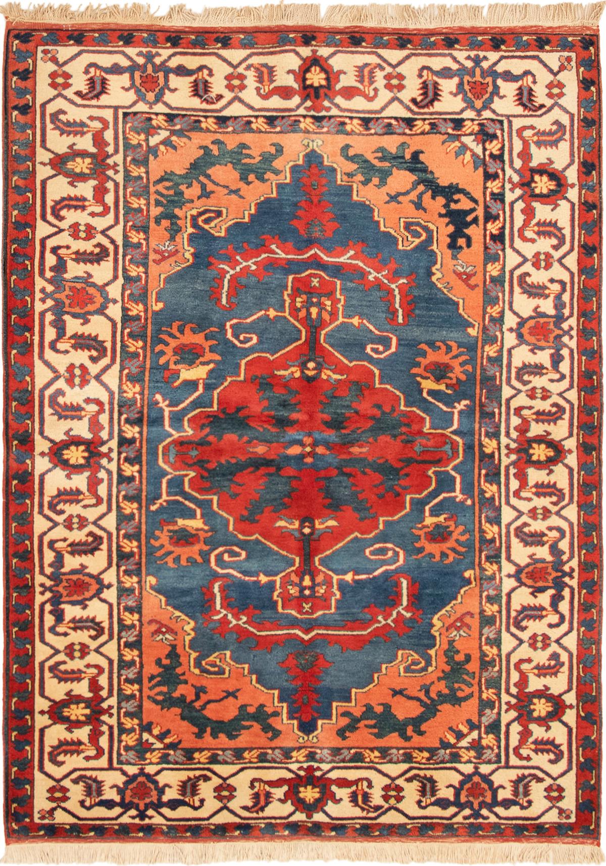 """Hand-knotted Melis Vintage Dark Blue, Dark Copper Wool Rug 5'9"""" x 7'10"""" Size: 5'9"""" x 7'10"""""""