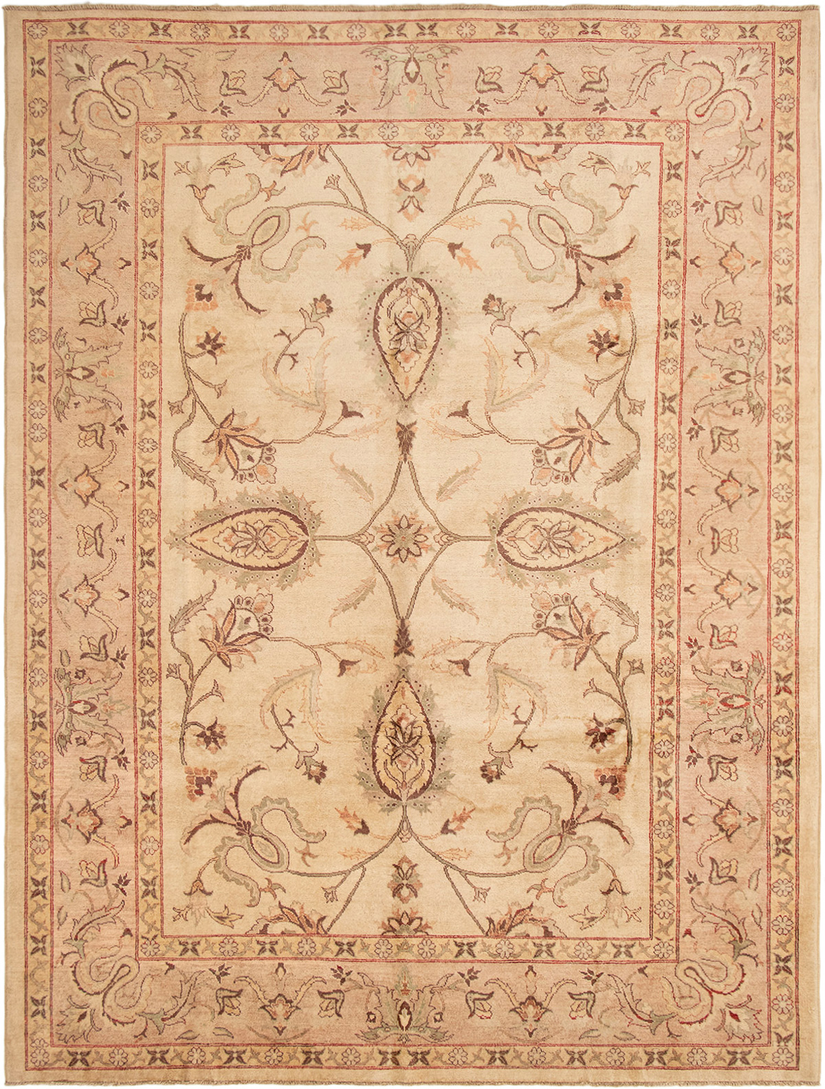 """Hand-knotted Chobi Finest Beige Wool Rug 8'10"""" x 11'10"""" Size: 8'10"""" x 11'10"""""""