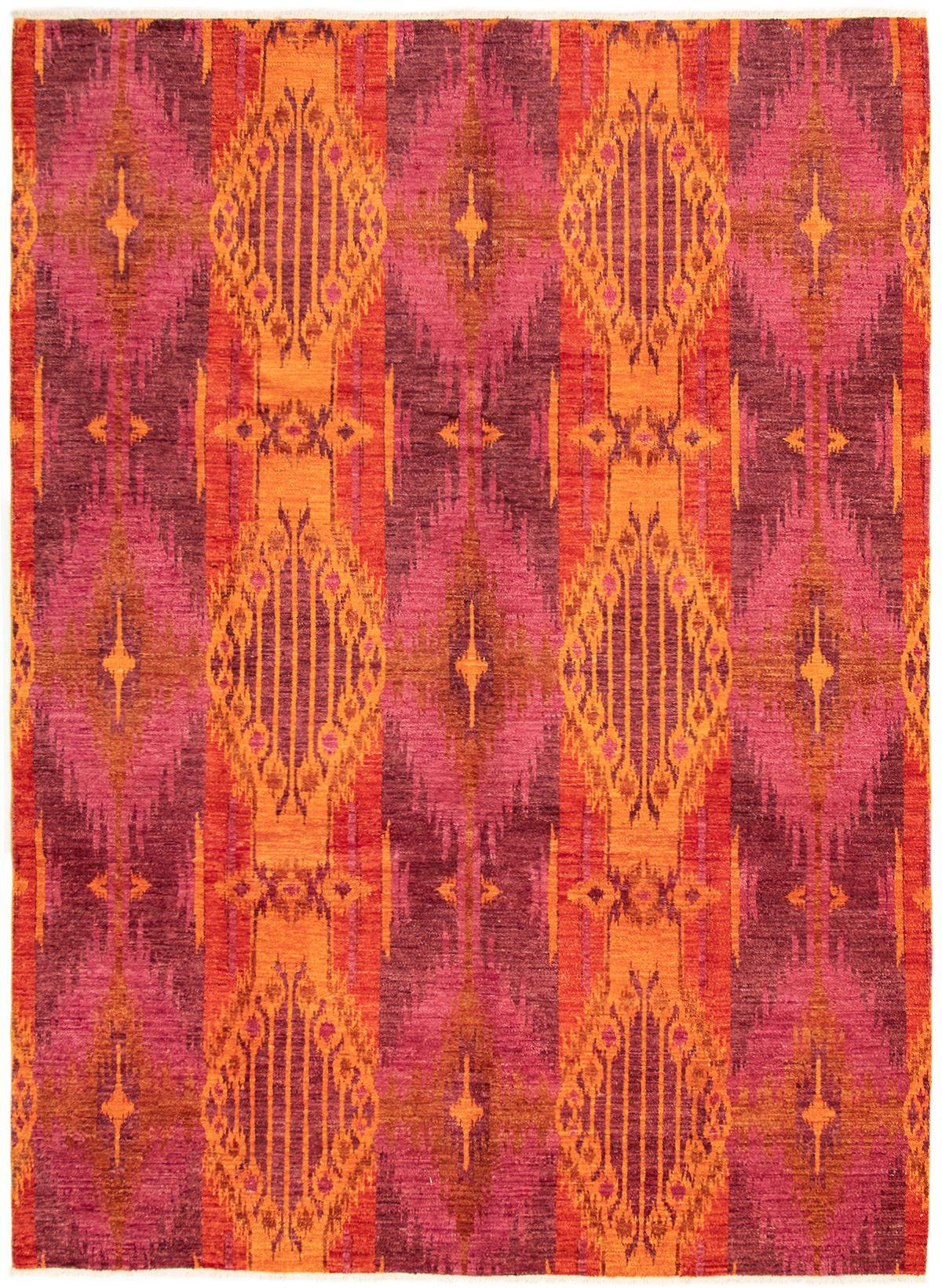 """Hand-knotted Shalimar Dark Pink, Orange Wool Rug 9'0"""" x 12'1"""" Size: 9'0"""" x 12'1"""""""