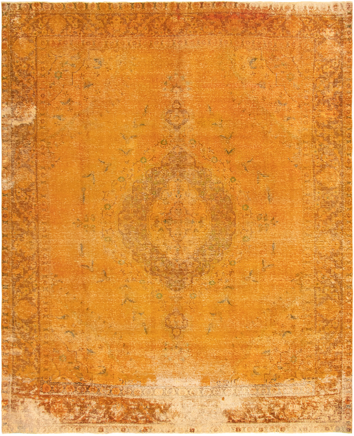 """Hand-knotted Color Transition Light Orange Wool Rug 9'10"""" x 12'0"""" Size: 9'10"""" x 12'0"""""""