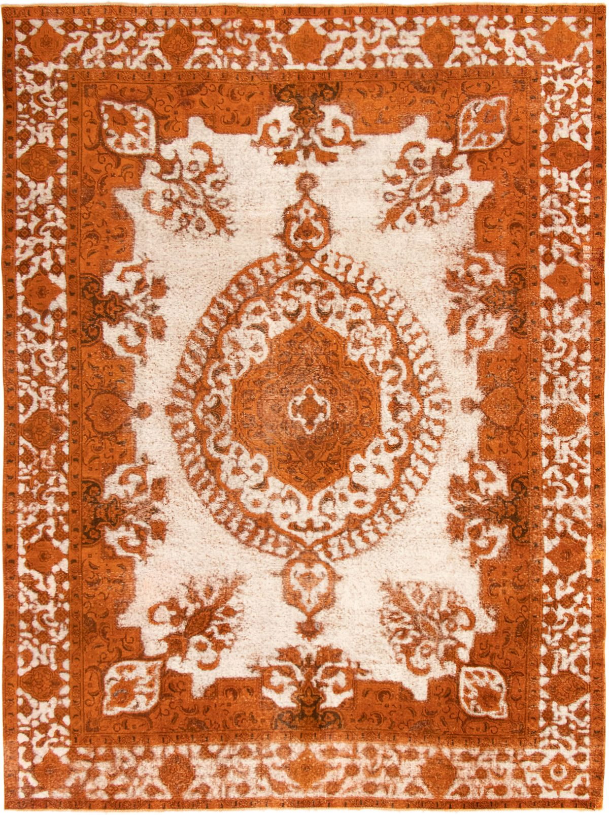 """Hand-knotted Color Transition Burnt Orange Wool Rug 9'4"""" x 12'6"""" Size: 9'4"""" x 12'6"""""""