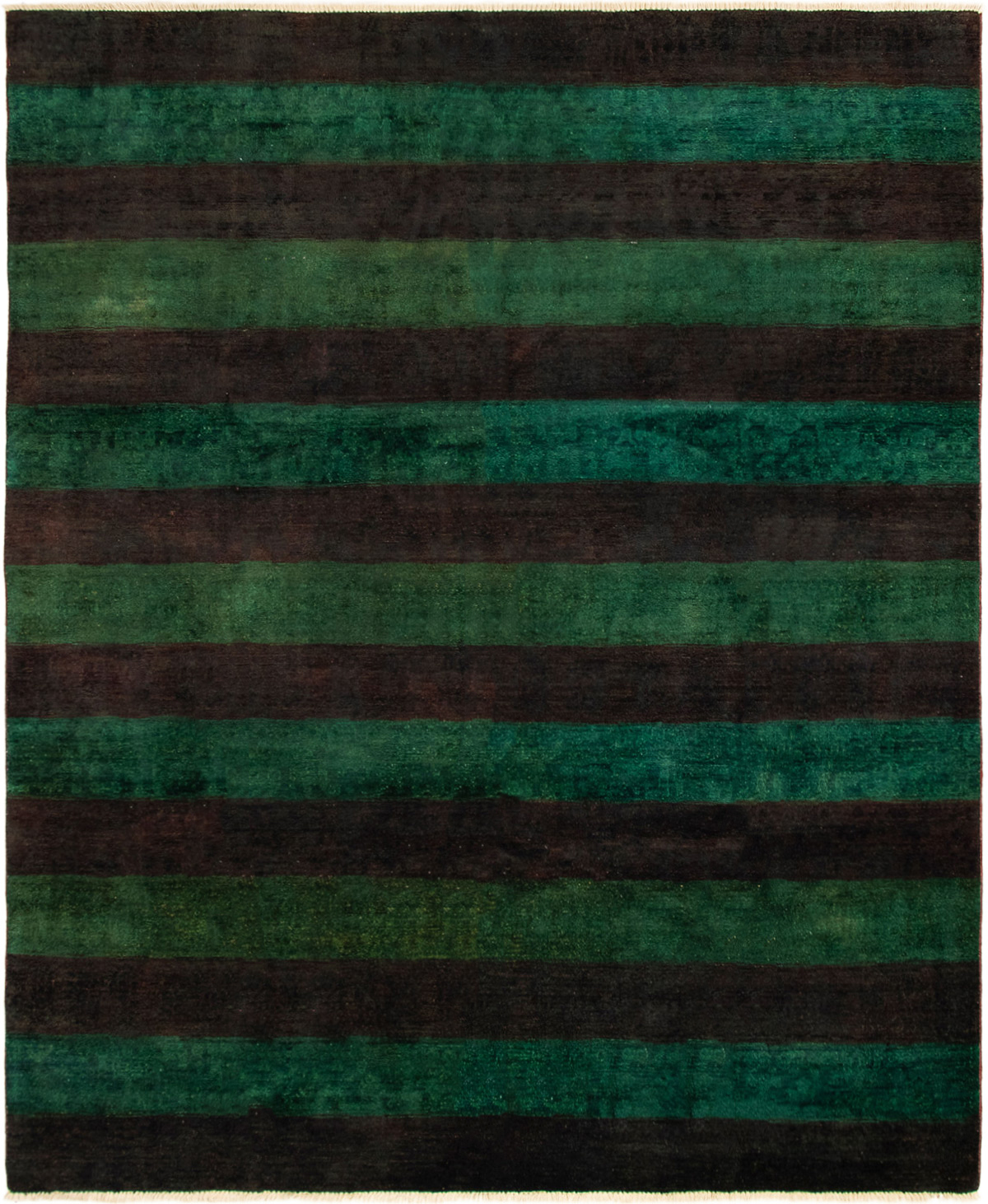 "Hand-knotted Vibrance Dark Brown, Dark Green Wool Rug 7'9"" x 9'6"" Size: 7'9"" x 9'6"""