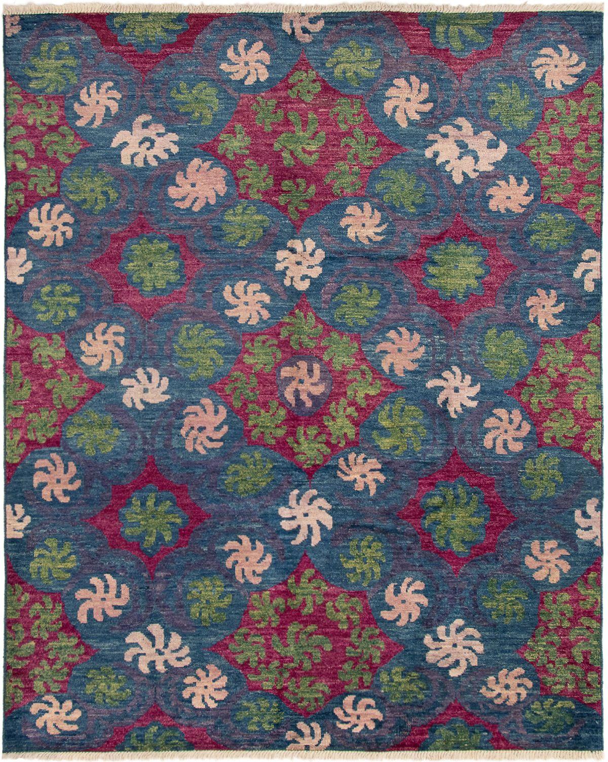 "Hand-knotted Shalimar Dark Blue Wool Rug 8'5"" x 10'4"" Size: 8'5"" x 10'4"""