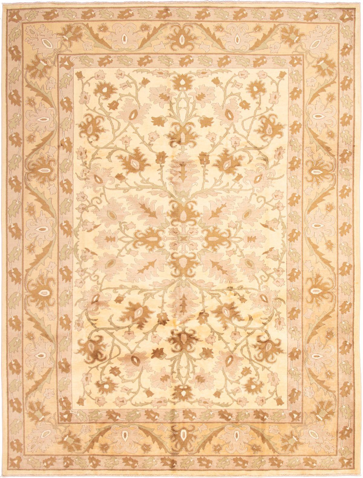 "Hand-knotted Chobi Twisted Ivory Wool Rug 10'1"" x 13'6"" Size: 10'1"" x 13'6"""