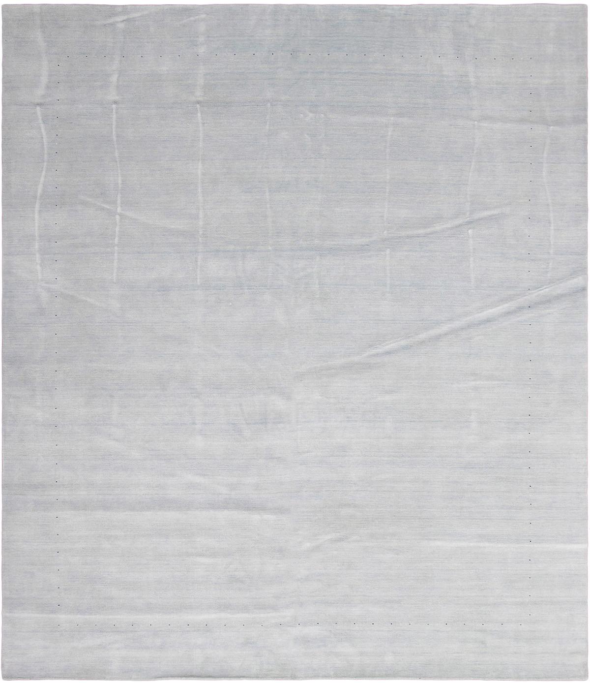 """Hand-knotted Kashkuli Gabbeh Light Blue  Wool Rug 12'3"""" x 14'10"""" Size: 12'3"""" x 14'10"""""""
