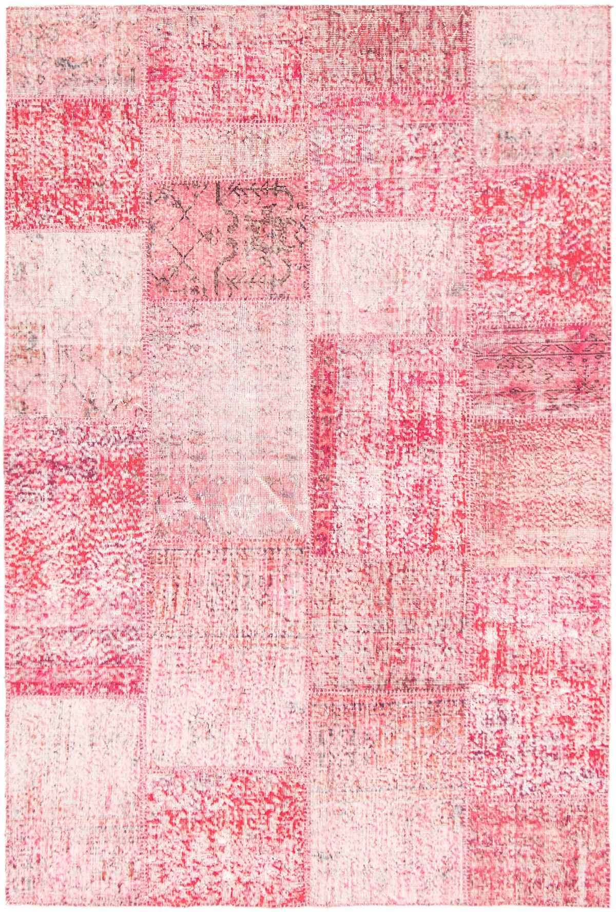 "Hand-knotted Color Transition Patch Dark Pink Wool Rug 5'9"" x 8'7"" Size: 5'9"" x 8'7"""