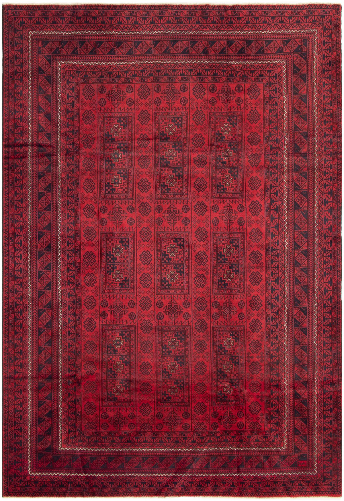 "Hand-knotted Finest Rizbaft Red Wool Rug 6'9"" x 10'0""  Size: 6'9"" x 10'0"""
