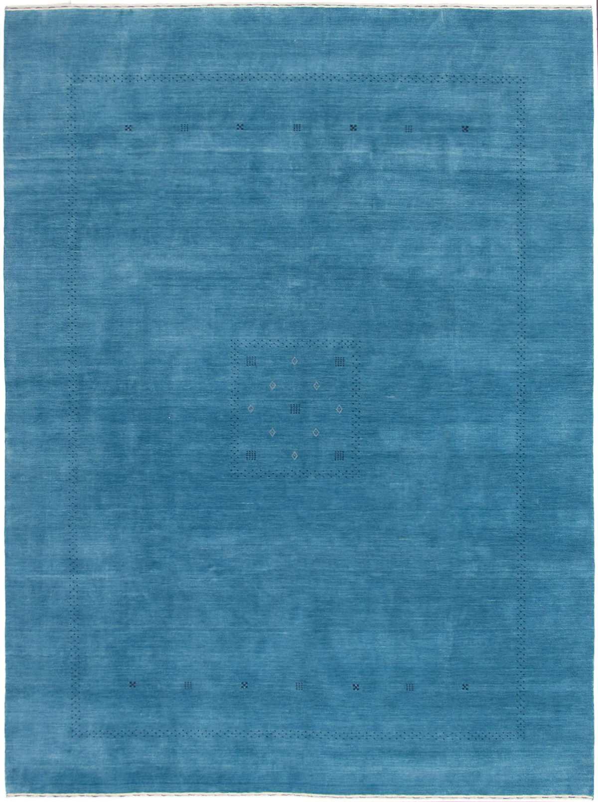"Hand-knotted Kashkuli Gabbeh Sky Blue Wool Rug 9'0"" x 12'1"" Size: 9'0"" x 12'1"""