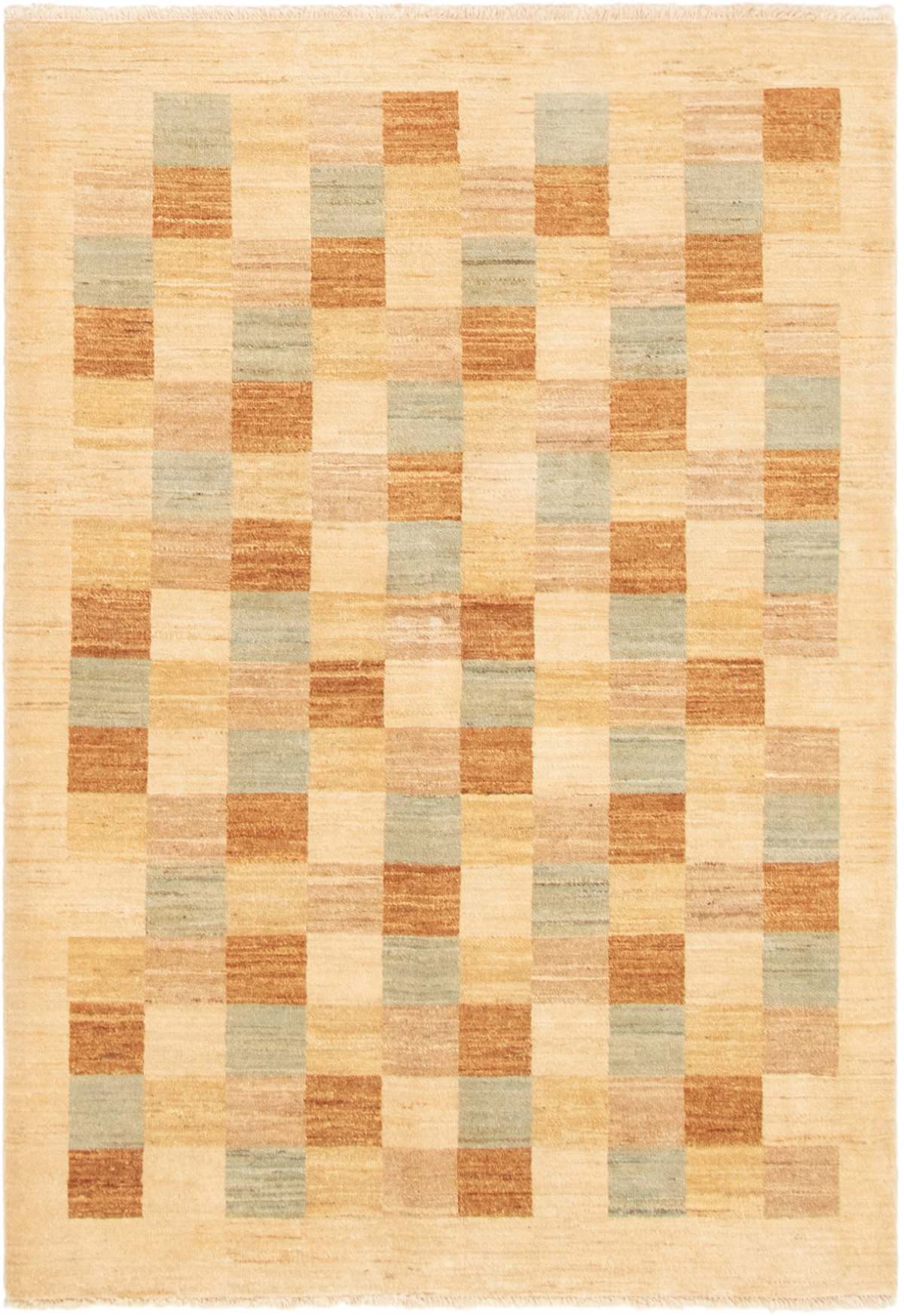 "Hand-knotted Finest Ziegler Chobi Ivory Wool Rug 4'1"" x 6'1"" Size: 4'1"" x 6'1"""