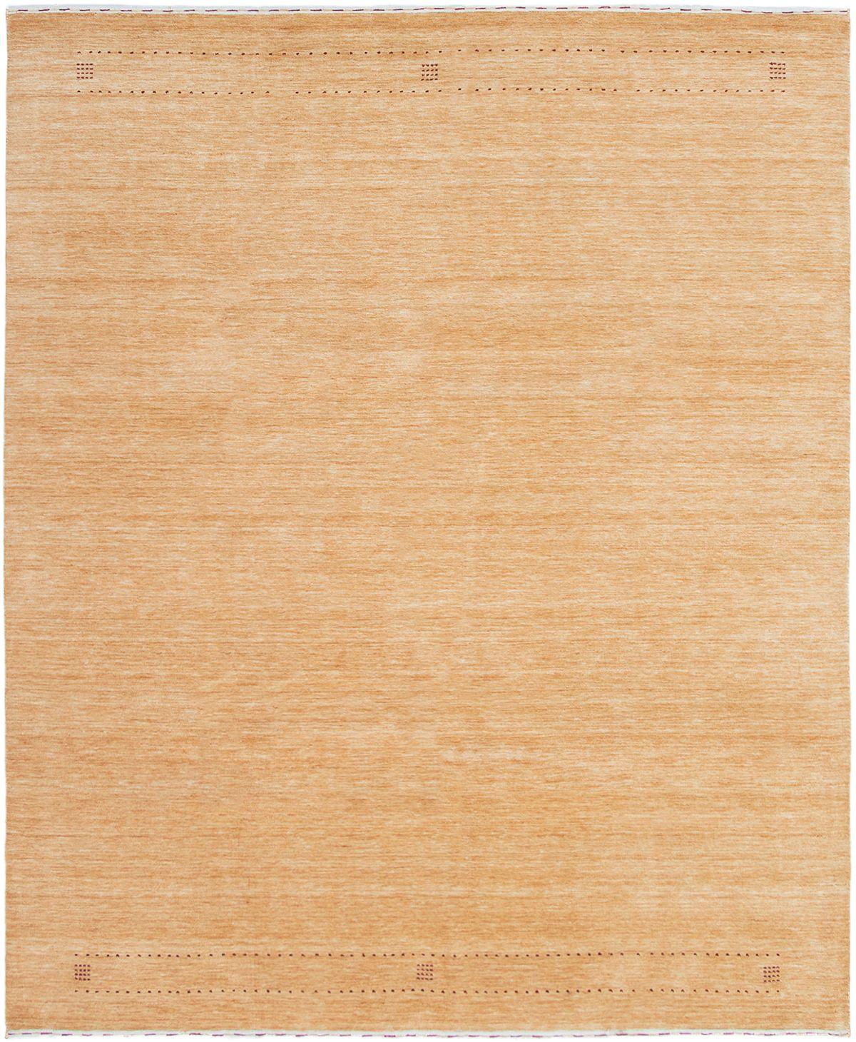 "Hand-knotted Kashkuli Gabbeh Light Orange Wool Rug 8'3"" x 9'10"" Size: 8'3"" x 9'10"""
