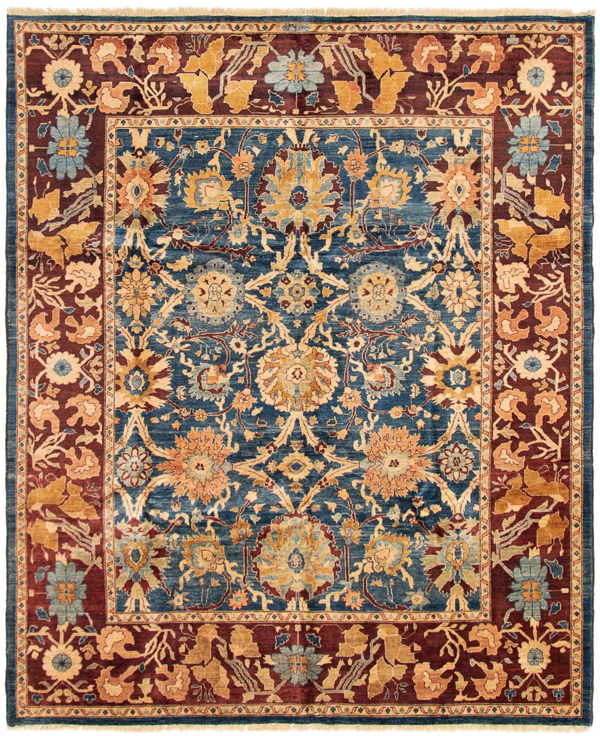 """Hand-knotted Chobi Finest Navy Blue Wool Rug 8'1"""" x 9'9"""" Size: 8'1"""" x 9'9"""""""