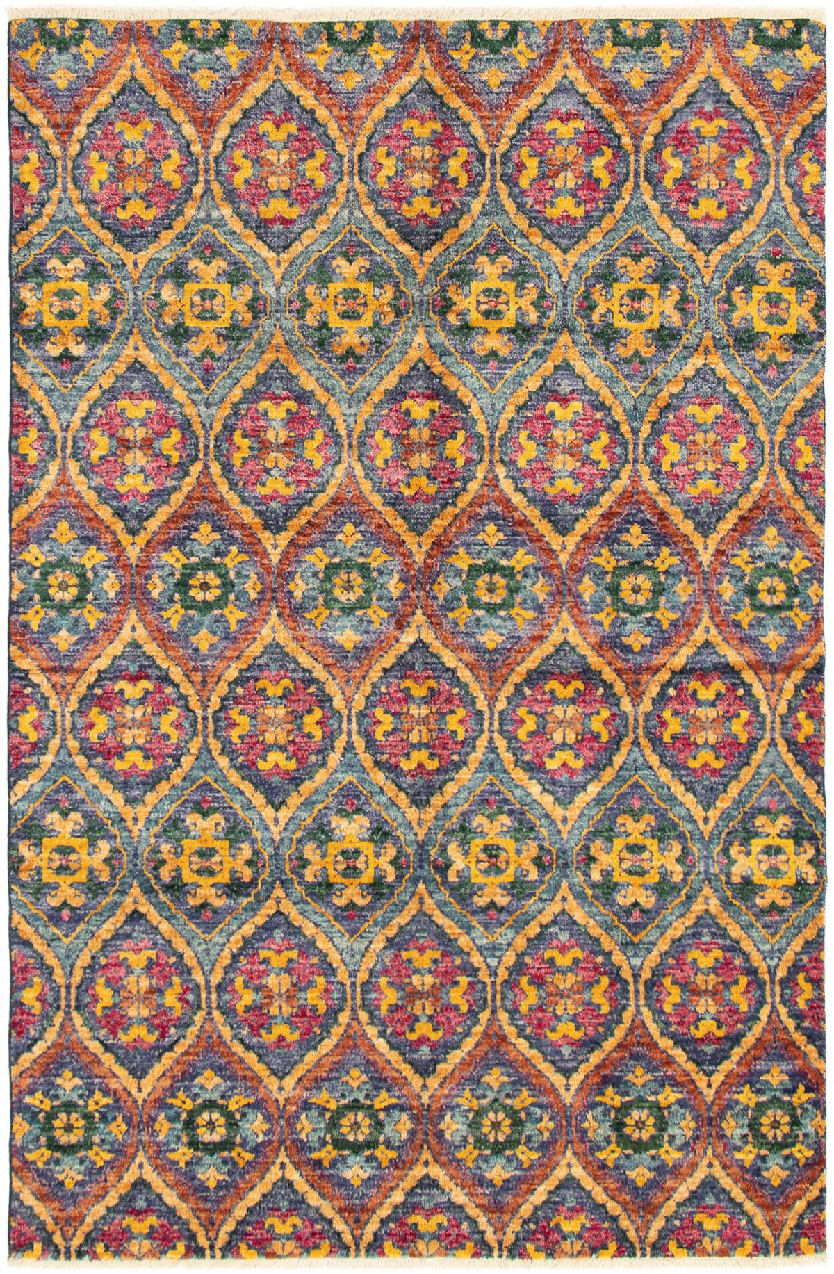 """Hand-knotted Shalimar Navy Blue Wool Rug 6'2"""" x 9'2"""" Size: 6'2"""" x 9'2"""""""
