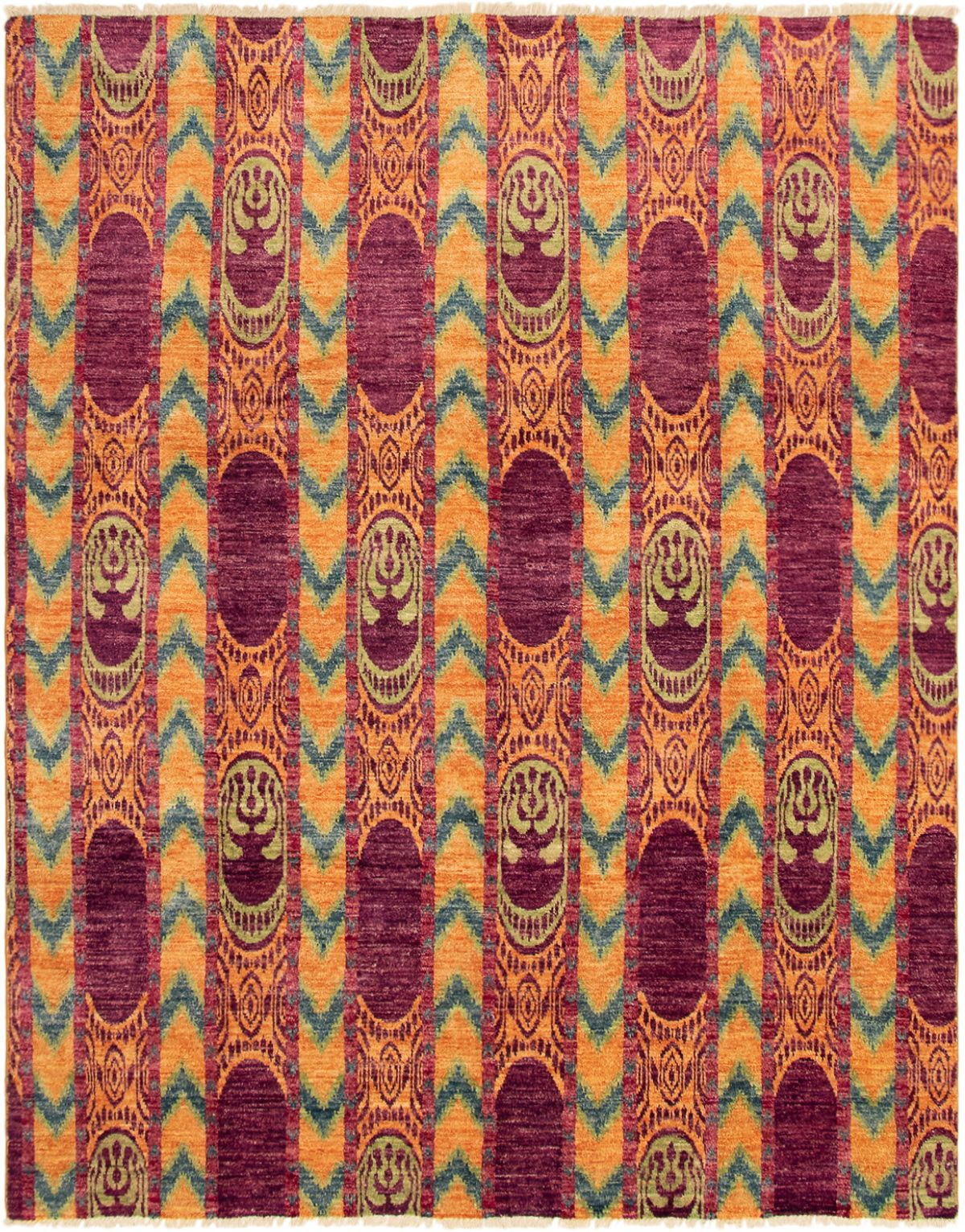 """Hand-knotted Shalimar Purple Wool Rug 7'10"""" x 9'10"""" Size: 7'10"""" x 9'10"""""""