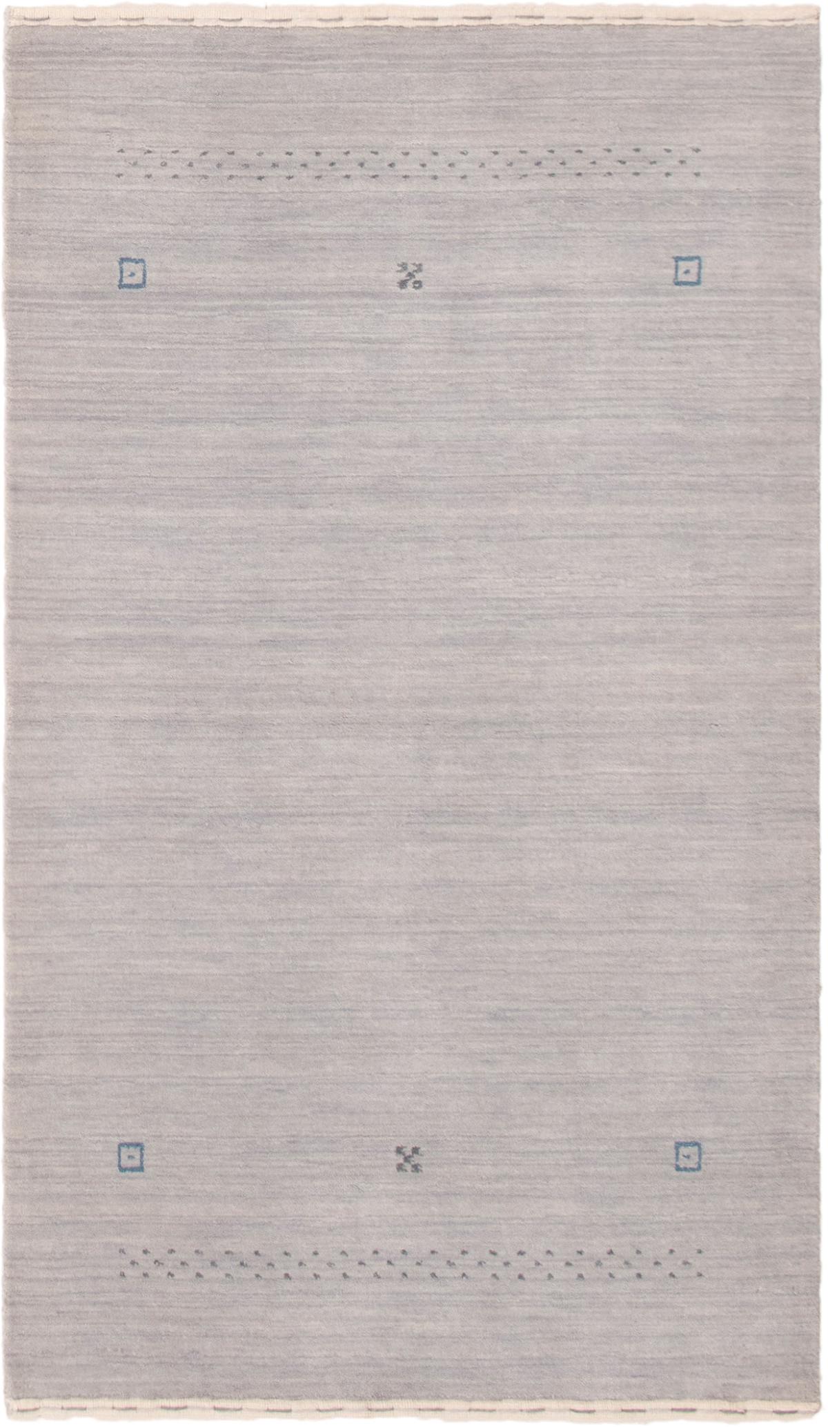 """Hand-knotted Kashkuli Gabbeh Light Blue  Wool Rug 3'0"""" x 5'2"""" Size: 3'0"""" x 5'2"""""""
