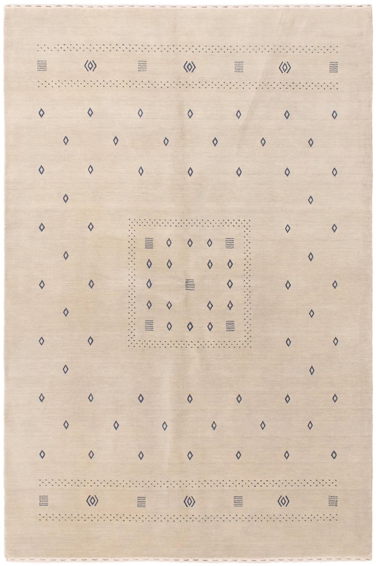 "Hand-knotted Kashkuli Gabbeh Light Denim Blue Wool Rug 6'0"" x 8'10"" Size: 6'0"" x 8'10"""
