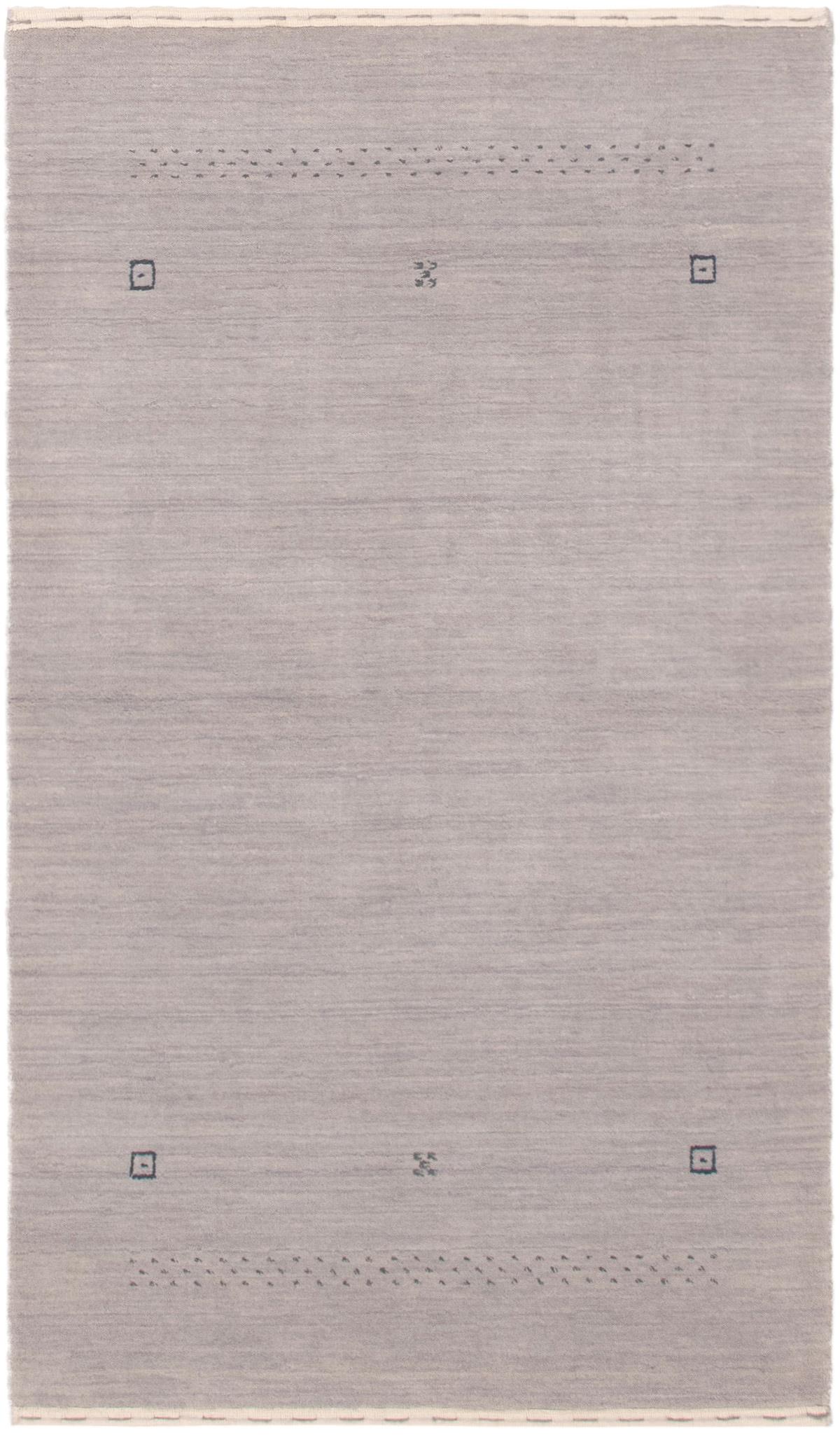 """Hand-knotted Kashkuli Gabbeh Light Blue  Wool Rug 3'0"""" x 5'3""""  Size: 3'0"""" x 5'3"""""""