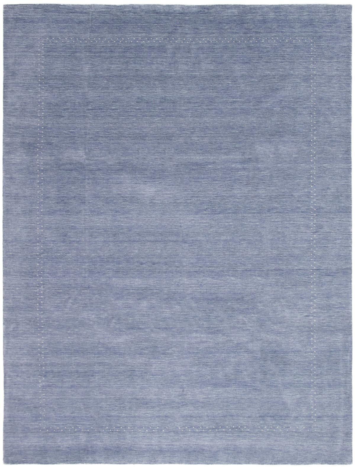 "Hand-knotted Kashkuli Gabbeh Light Denim Blue Wool Rug 9'0"" x 11'10"" Size: 9'0"" x 11'10"""