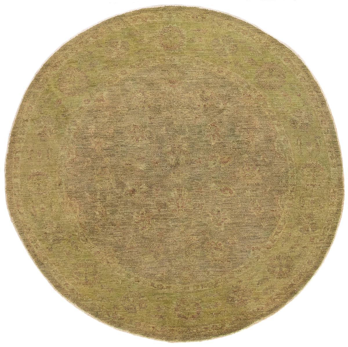"""Hand-knotted Vibrance Light Green Wool Rug 7'7"""" x 7'7"""" Size: 7'7"""" x 7'7"""""""