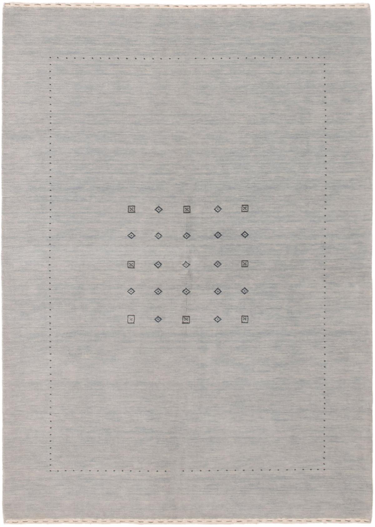 """Hand-knotted Kashkuli Gabbeh Light Blue  Wool Rug 5'9"""" x 7'10"""" Size: 5'9"""" x 7'10"""""""