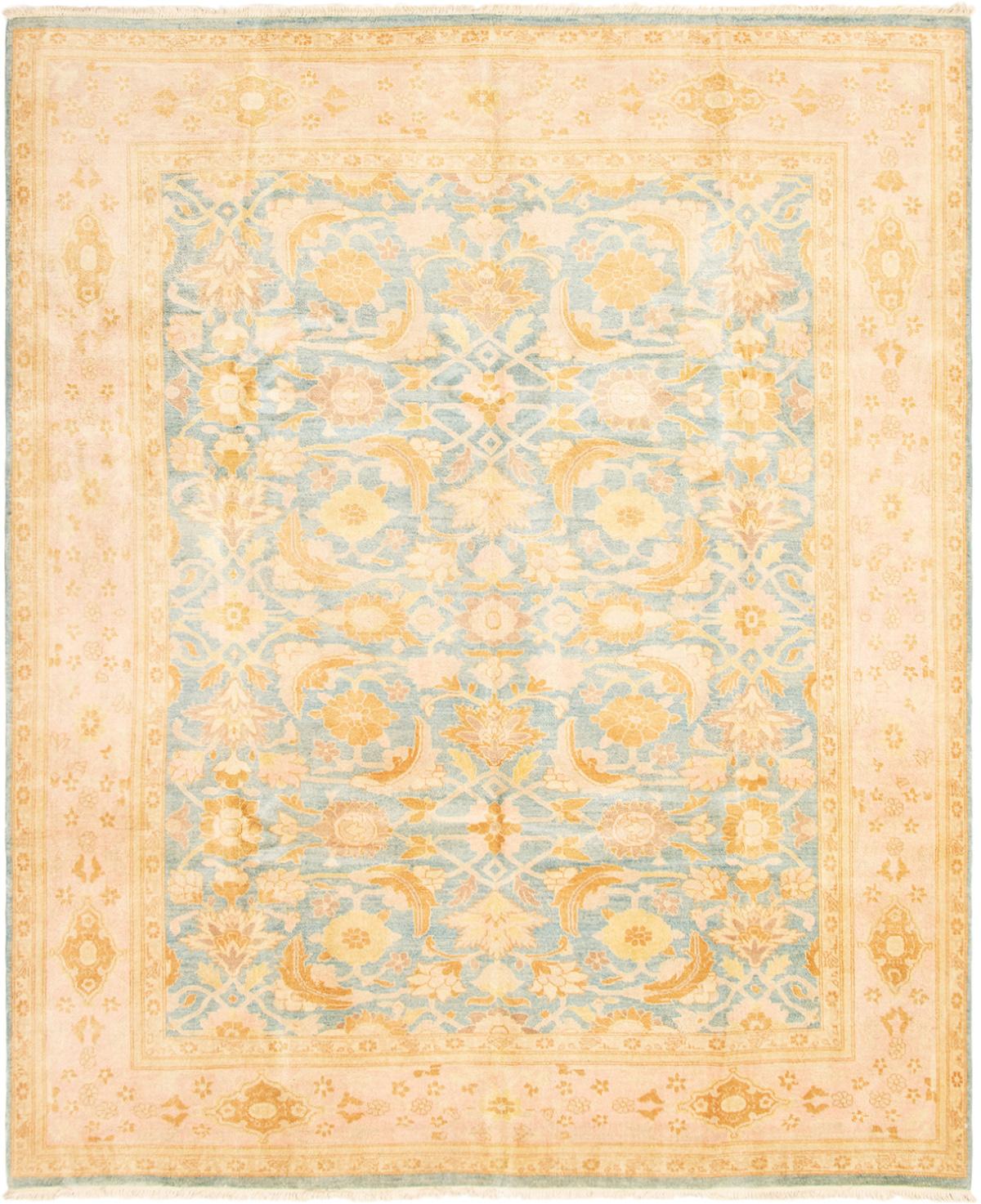 "Hand-knotted Peshawar Oushak Blue Wool Rug 8'3"" x 9'10"" Size: 8'3"" x 9'10"""