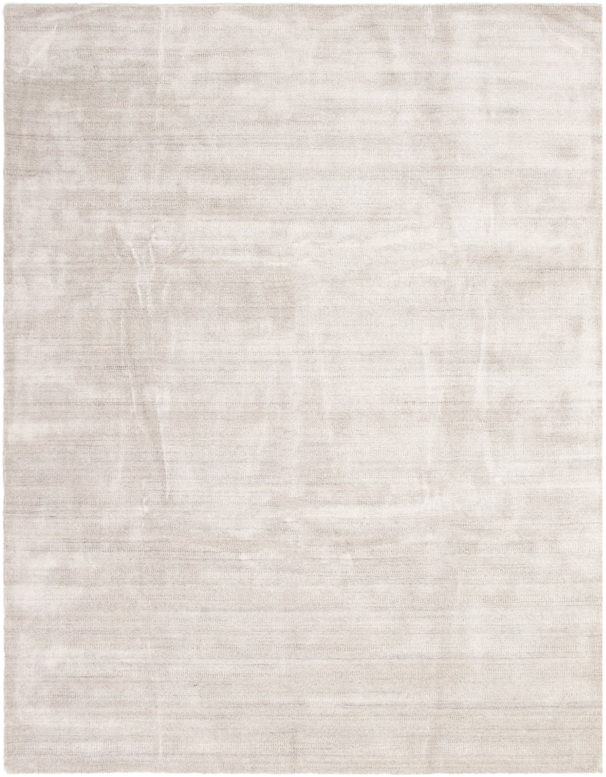 """Hand-knotted Pearl Grey, Light Grey Wool Rug 9'2"""" x 12'0"""" Size: 9'2"""" x 12'0"""""""