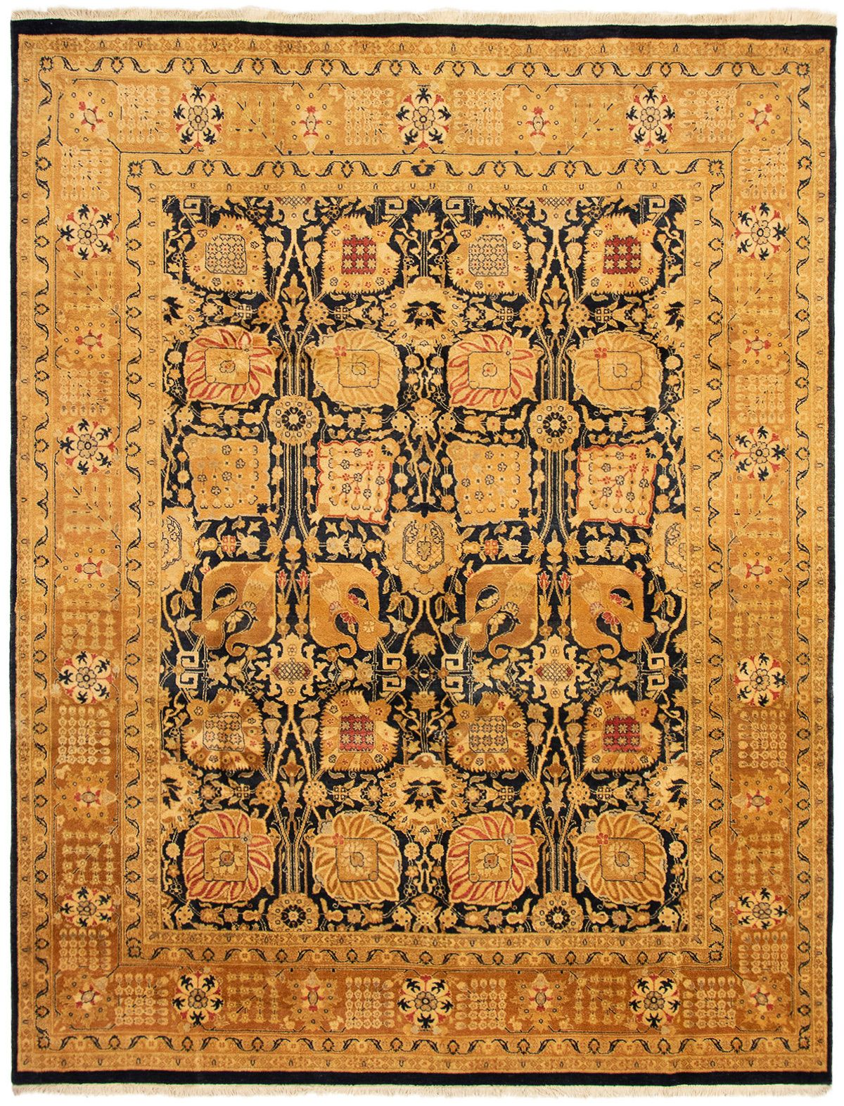 "Hand-knotted Peshawar Oushak Light Brown Wool Rug 8'2"" x 10'5"" Size: 8'2"" x 10'5"""