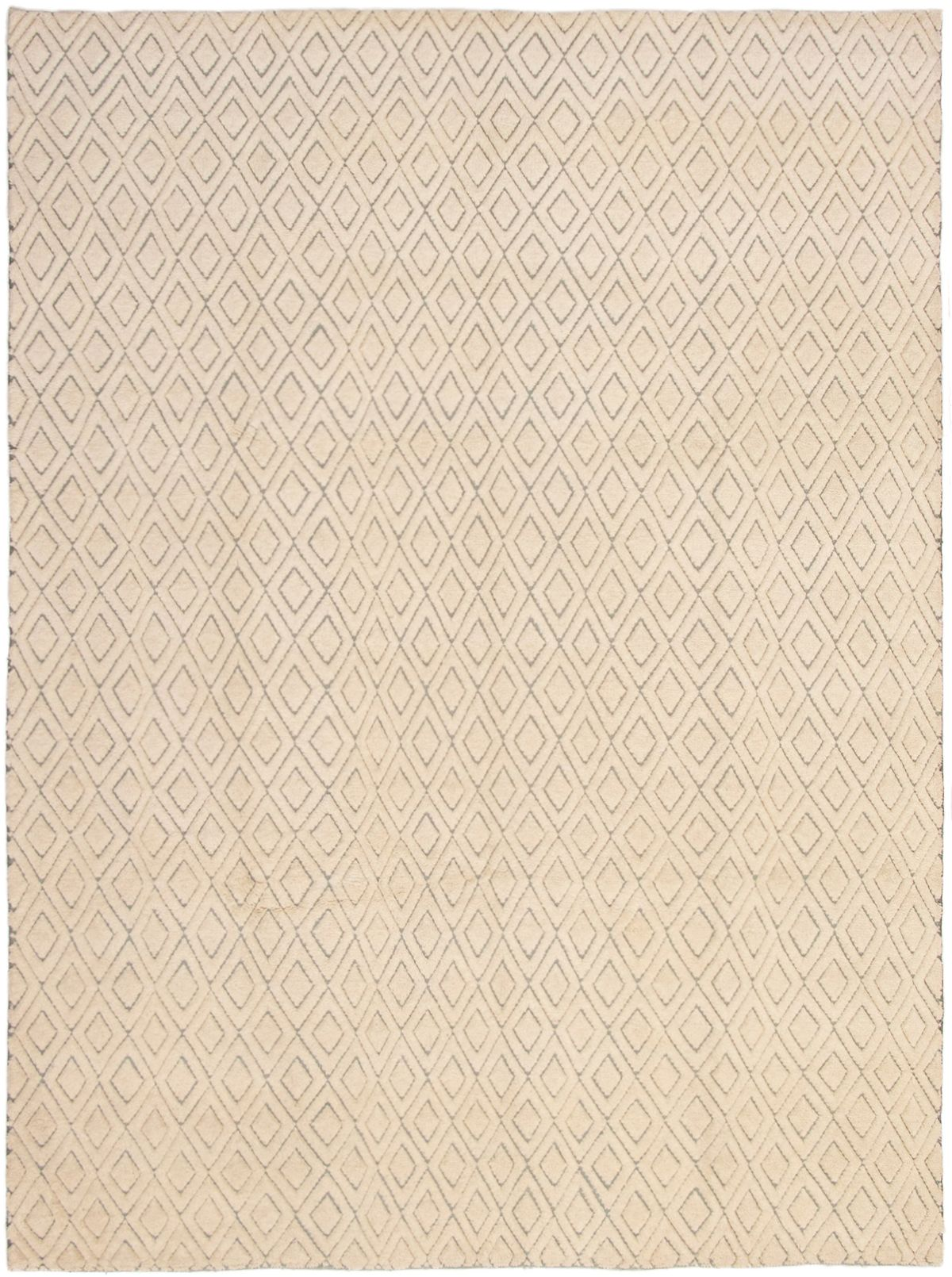 """Hand-knotted Arlequin Cream Wool Rug 8'10"""" x 11'10"""" Size: 8'10"""" x 11'10"""""""