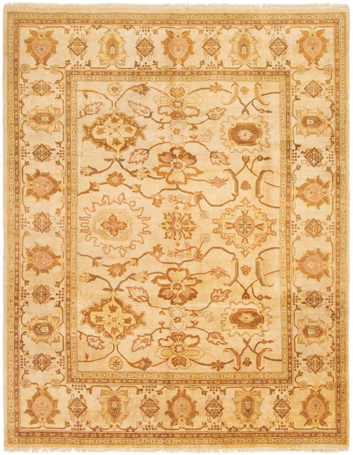 "Hand-knotted Peshawar Oushak Cream Wool Rug 8'1"" x 10'3""  Size: 8'1"" x 10'3"""