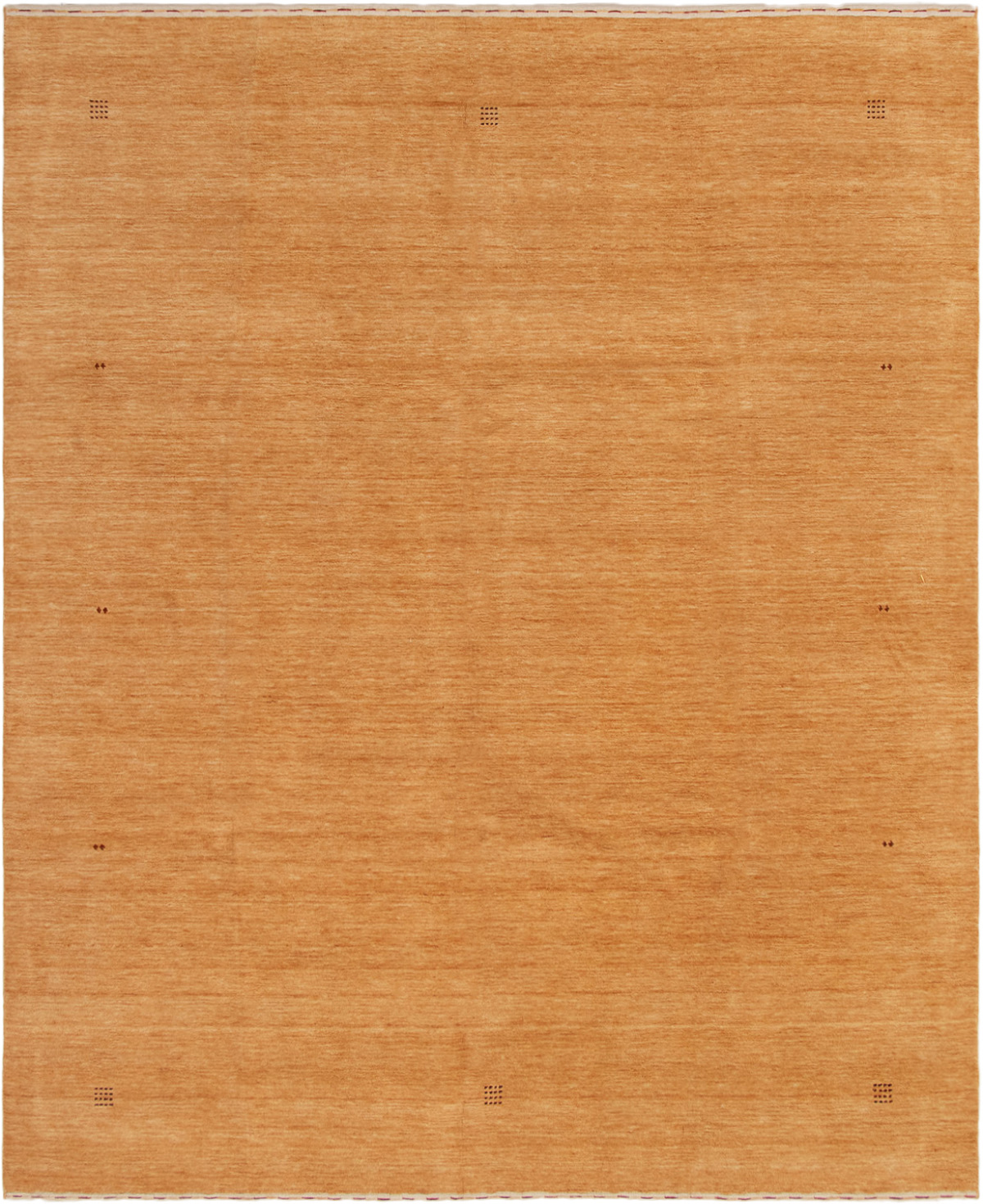 "Hand-knotted Kashkuli Gabbeh Light Orange Wool Rug 8'2"" x 9'10""  Size: 8'2"" x 9'10"""