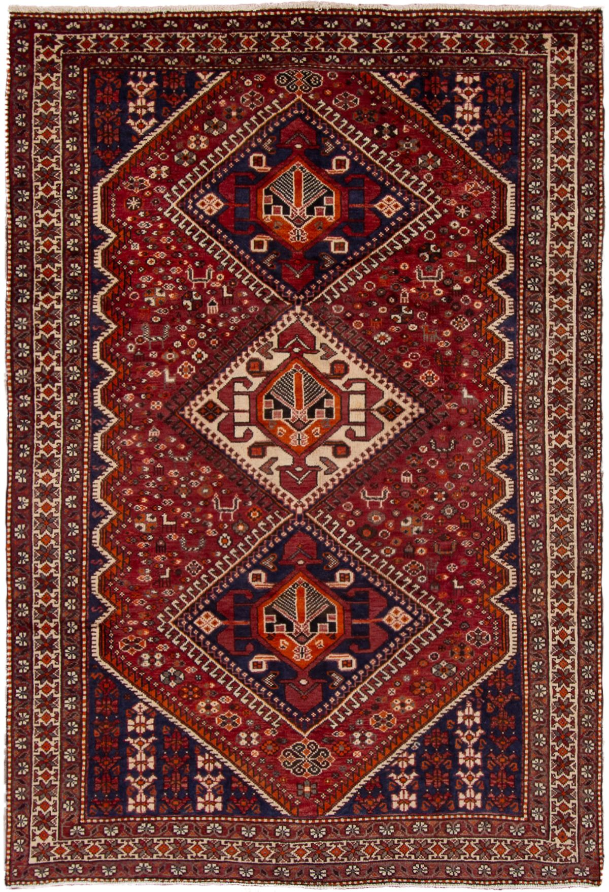 "Hand-knotted Hamadan  Wool Rug 6'5"" x 9'11"" Size: 6'5"" x 9'11"""