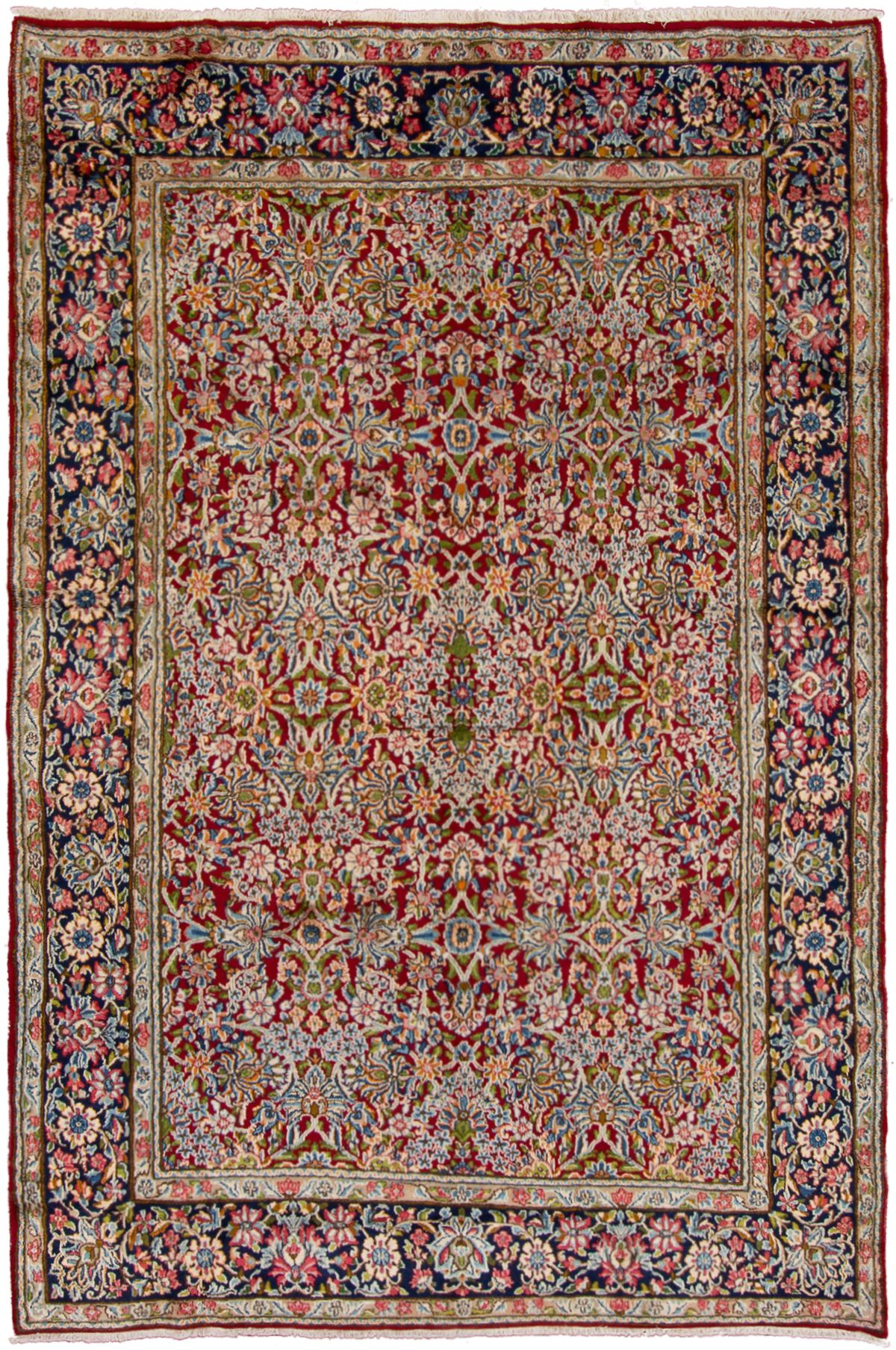 "Hand-knotted Kerman  Wool Rug 7'9"" x 11'8"" Size: 7'9"" x 11'8"""