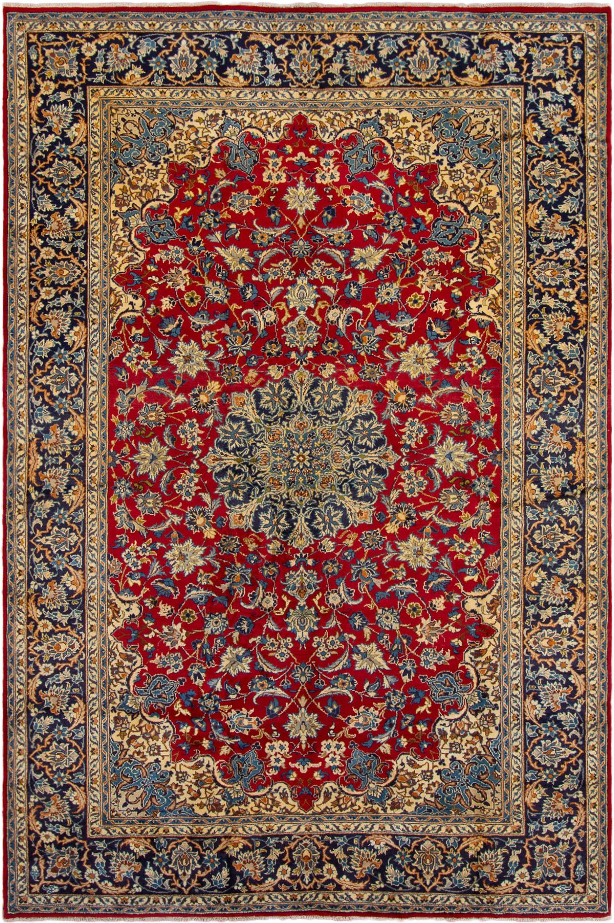 """Hand-knotted Najafabad  Wool Rug 8'2"""" x 12'3"""" Size: 8'2"""" x 12'3"""""""