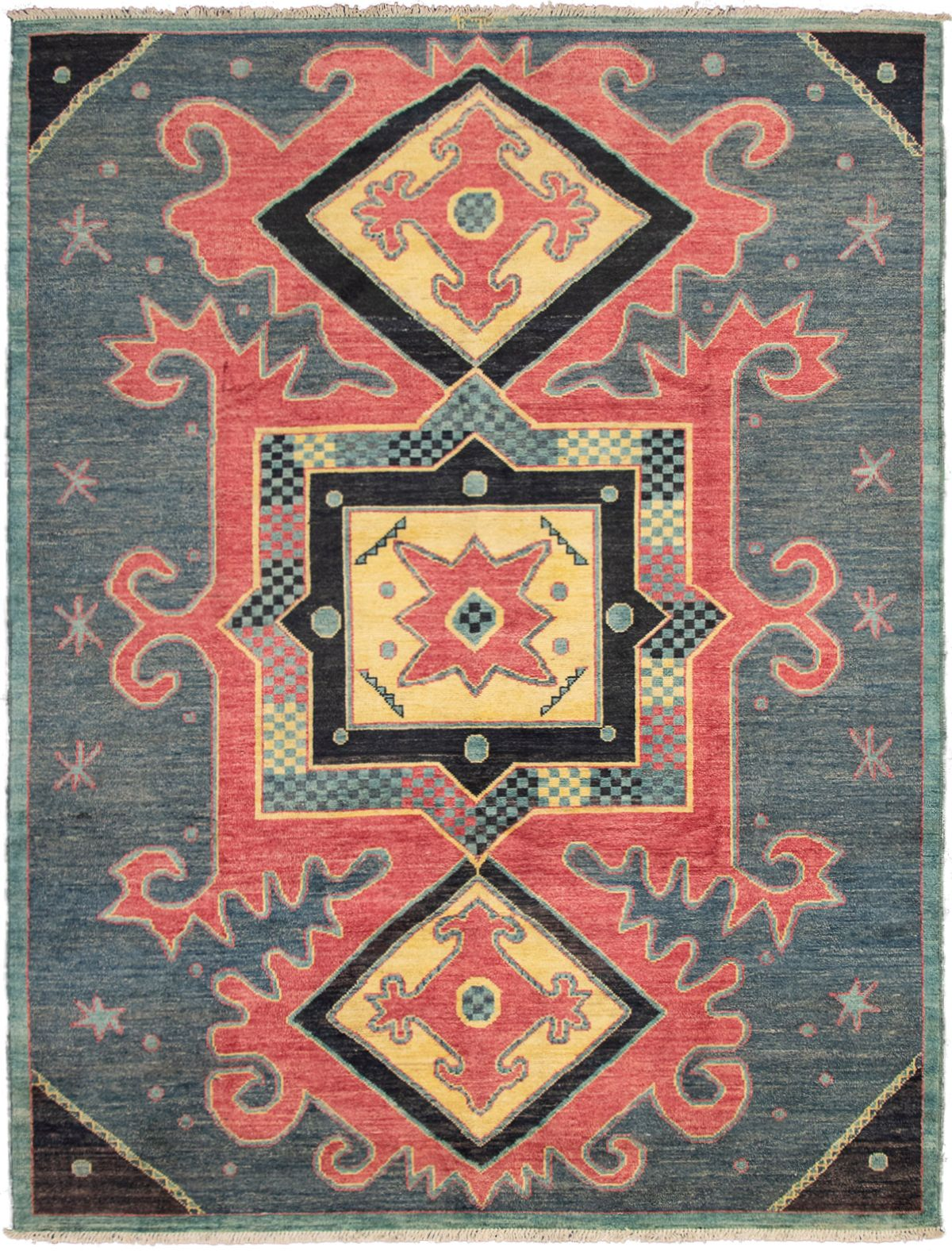 """Hand-knotted Shalimar Navy Blue Wool Rug 9'2"""" x 11'10"""" Size: 9'2"""" x 11'10"""""""