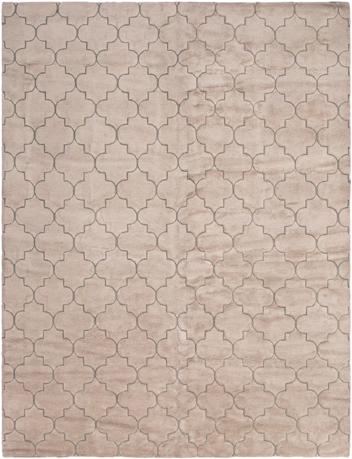 """Hand-knotted Arlequin Tan Wool Rug 10'4"""" x 13'8"""" Size: 10'4"""" x 13'8"""""""