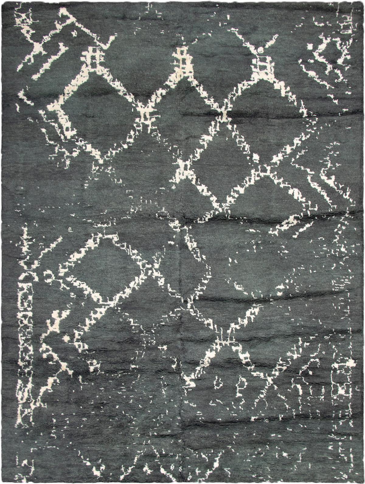 "Hand-knotted Arlequin Dark Grey  Rug 10'5"" x 14'2"" Size: 10'5"" x 14'2"""