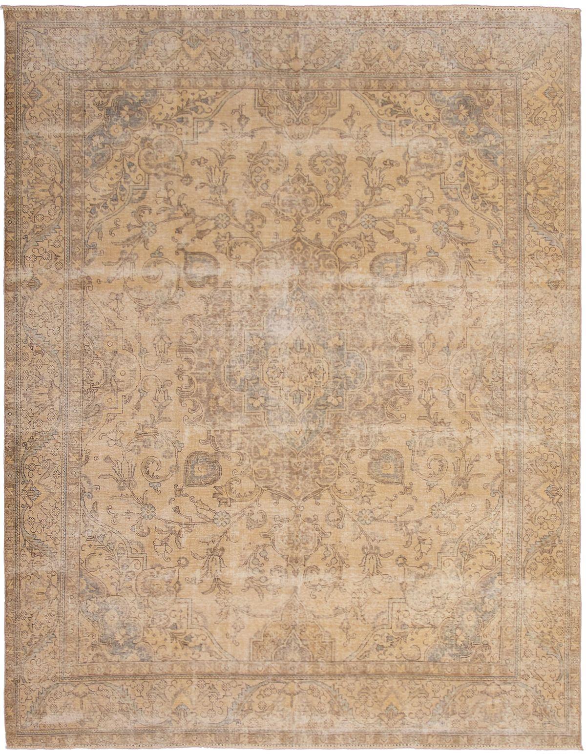 "Hand-knotted Antalya Vintage Light Khaki Wool Rug 9'5"" x 12'3"" Size: 9'5"" x 12'3"""
