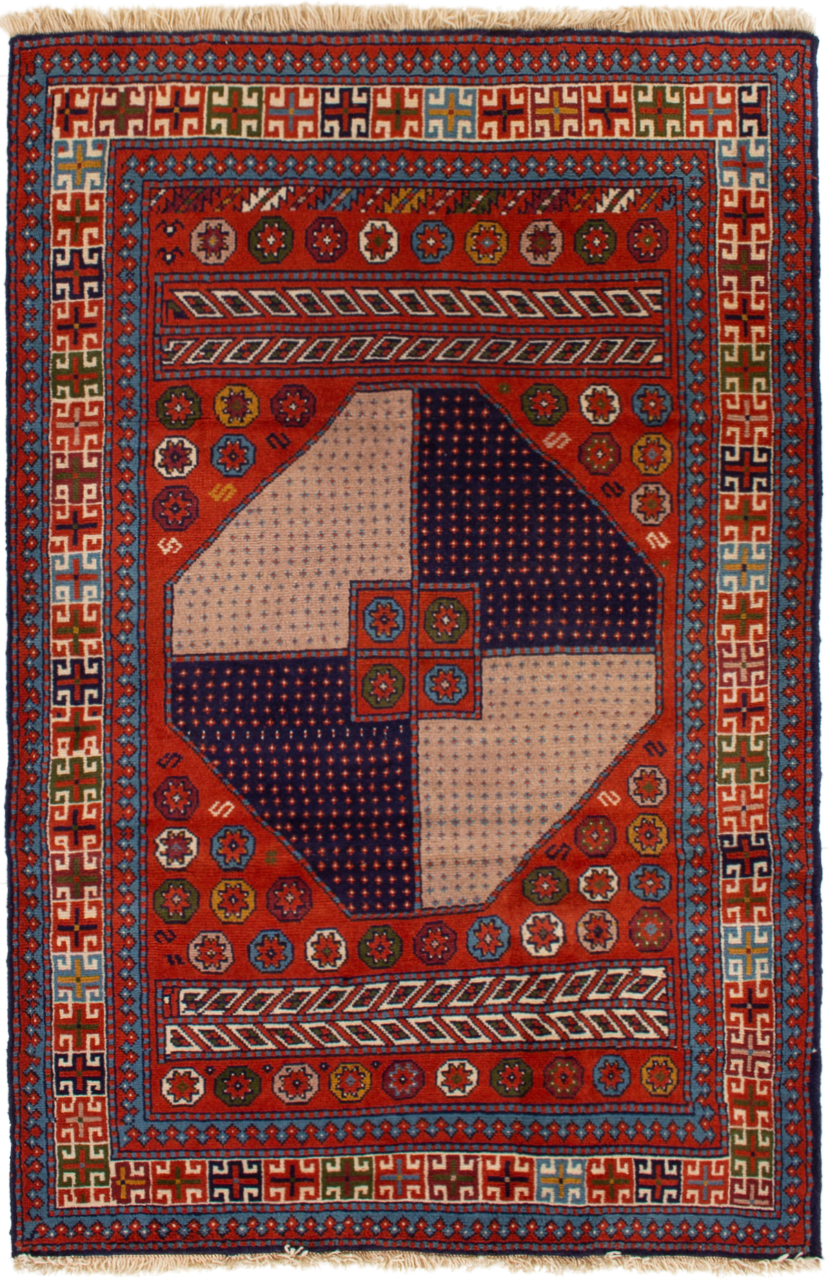 """Hand-knotted Guchan  Wool Rug 3'10"""" x 6'1"""" Size: 3'10"""" x 6'1"""""""