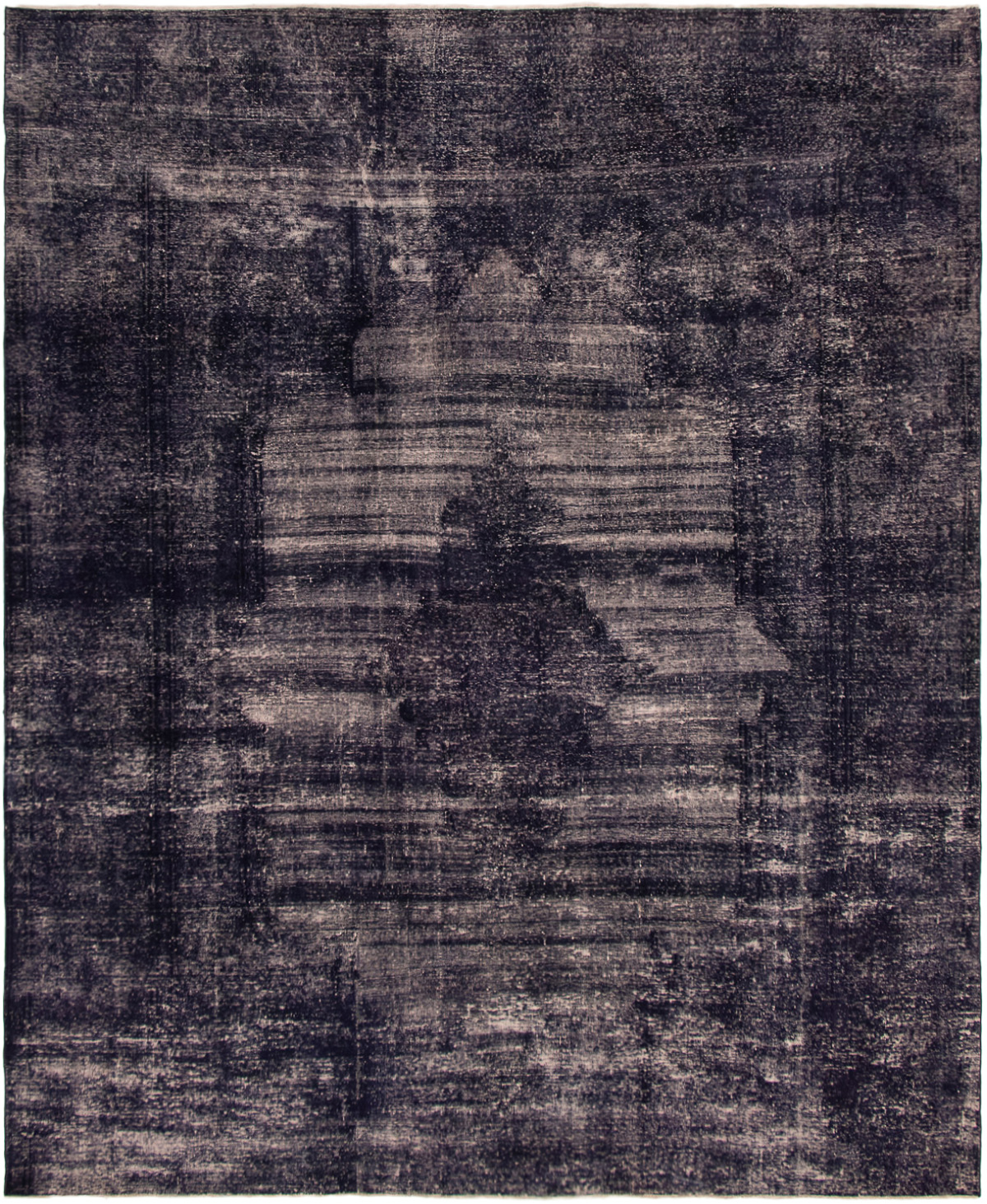 """Hand-knotted Color Transition Dark Purple,  Wool Rug 8'8"""" x 10'5"""" Size: 8'8"""" x 10'5"""""""