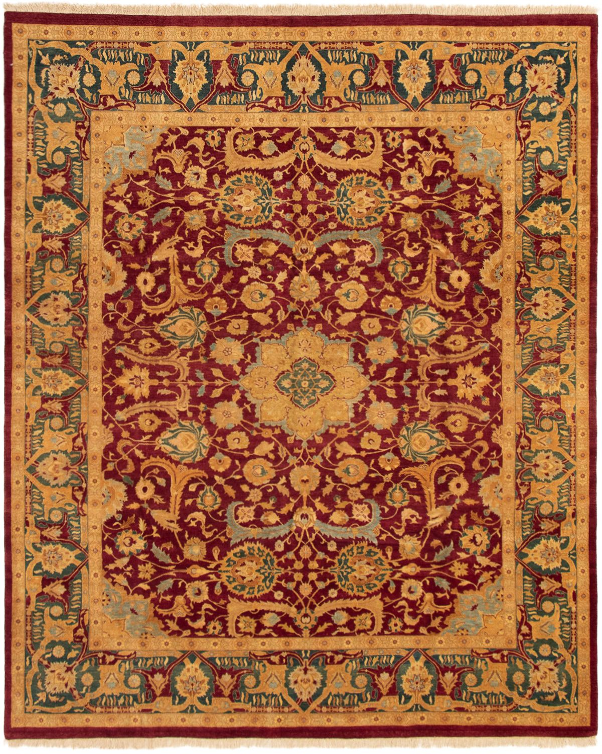 """Hand-knotted Pako Persian 18/20 Dark Red Wool Rug 8'3"""" x 10'0"""" Size: 8'3"""" x 10'0"""""""