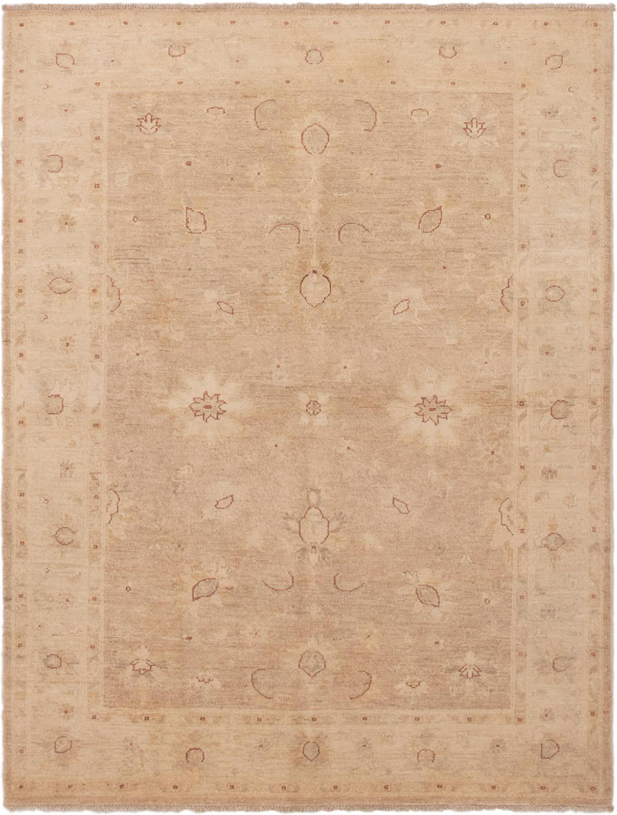 "Hand-knotted Peshawar Finest Beige Wool Rug 5'0"" x 6'8"" Size: 5'0"" x 6'8"""