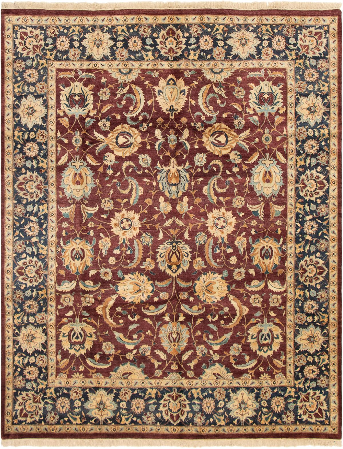 "Hand-knotted Pako Persian 18/20 Dark Red Wool Rug 8'1"" x 10'2"" Size: 8'1"" x 10'2"""